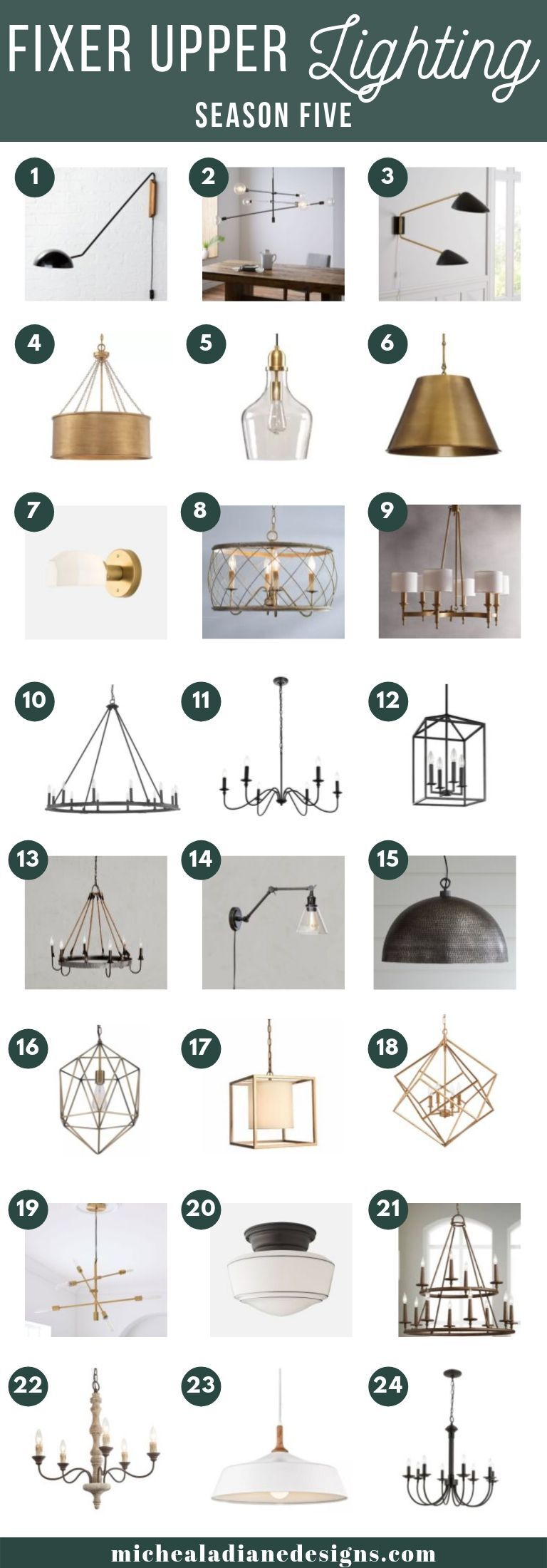 Fixer Upper Style Lighting - Micheala Diane Designs for Odie 8-Light Lantern Square / Rectangle Pendants (Image 9 of 30)