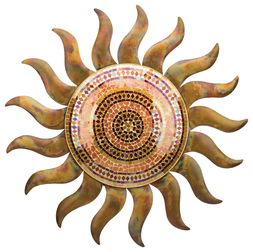 Flamed Copper Sun Wall Decor 29 pertaining to Aurora Sun Wall Decor (Image 12 of 30)
