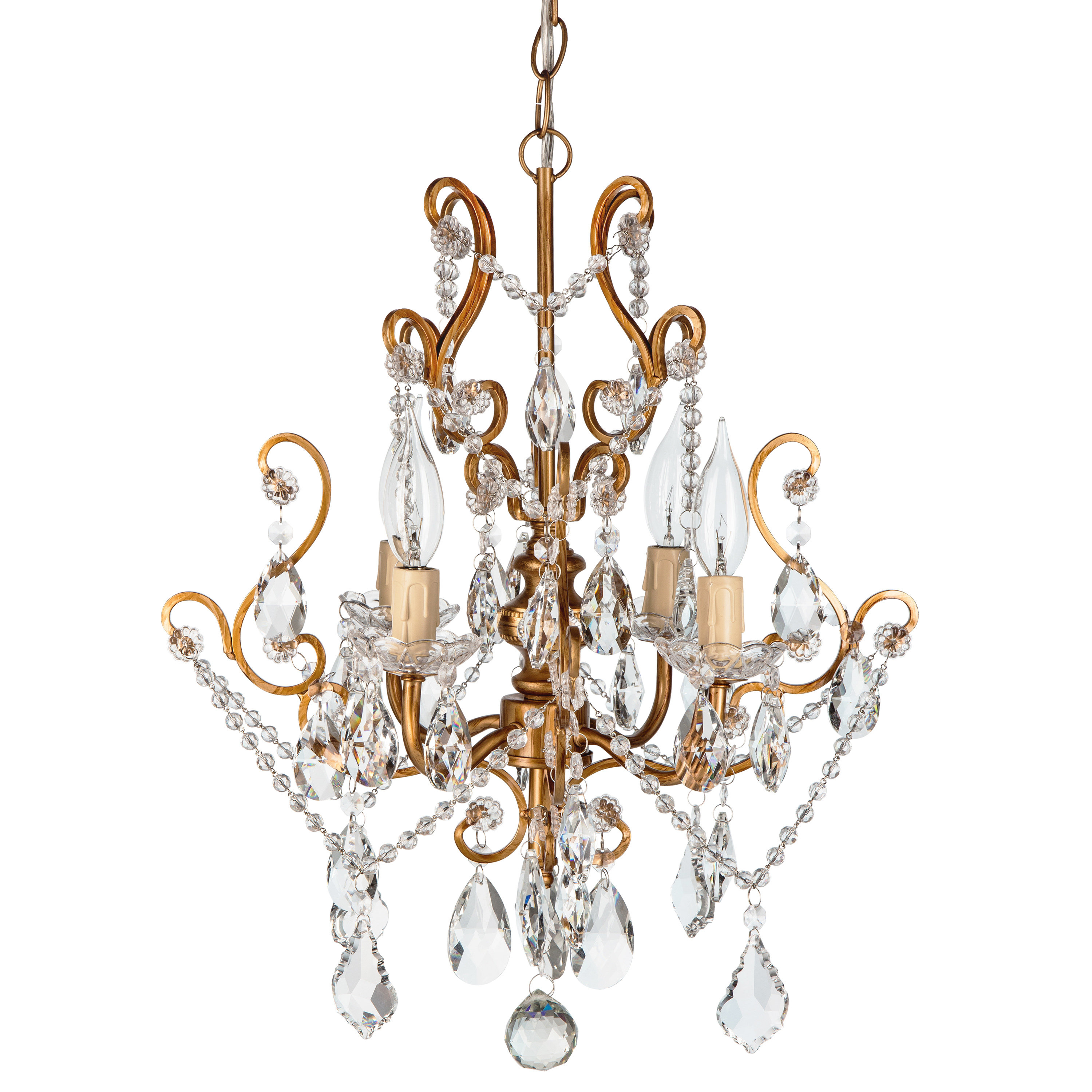 Flemington 4 Light Candle Style Chandelier Pertaining To Aldora 4 Light Candle Style Chandeliers (View 5 of 30)