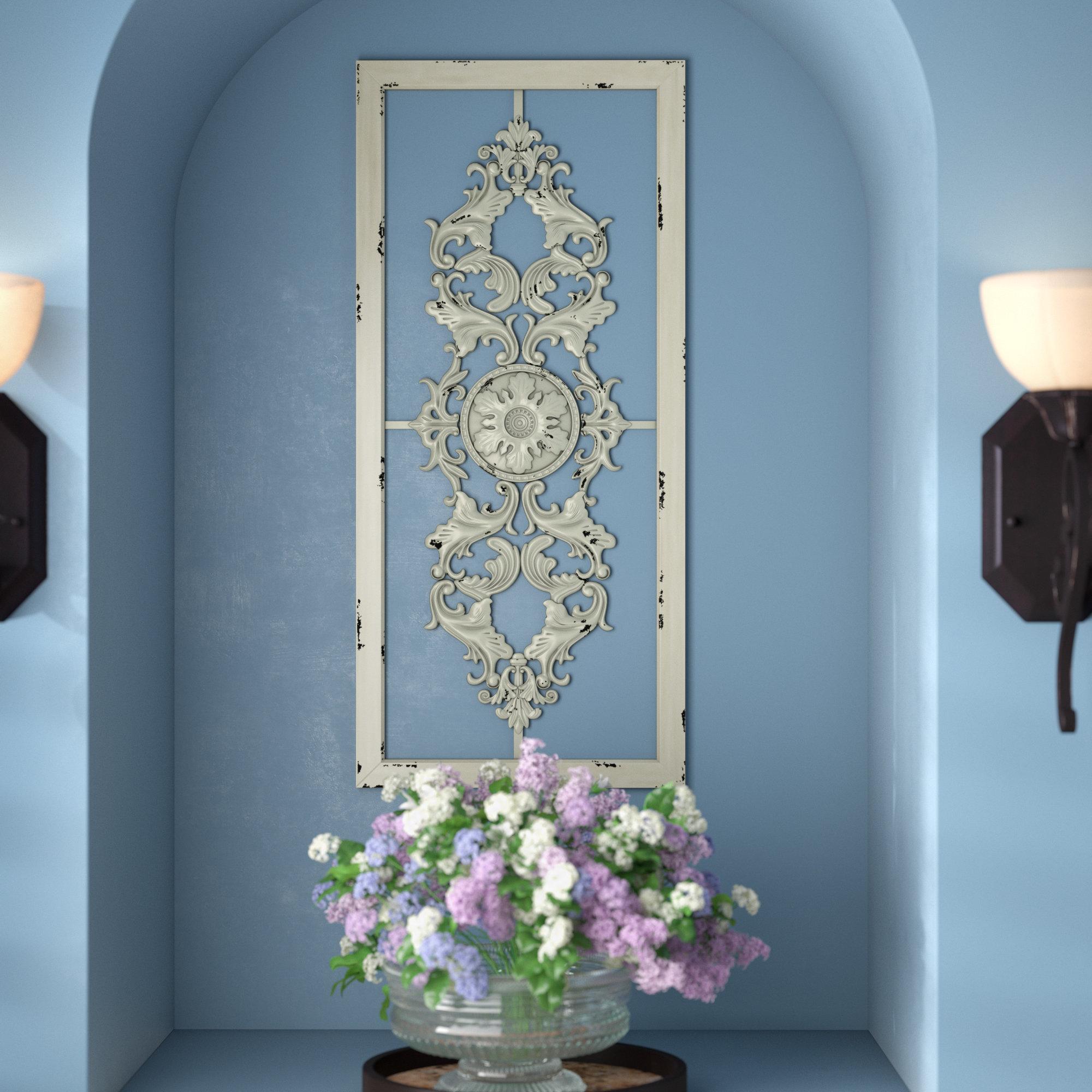 Fleur De Lis Living Scroll Panel Wall Décor & Reviews | Wayfair With Scroll Panel Wall Decor (View 2 of 30)