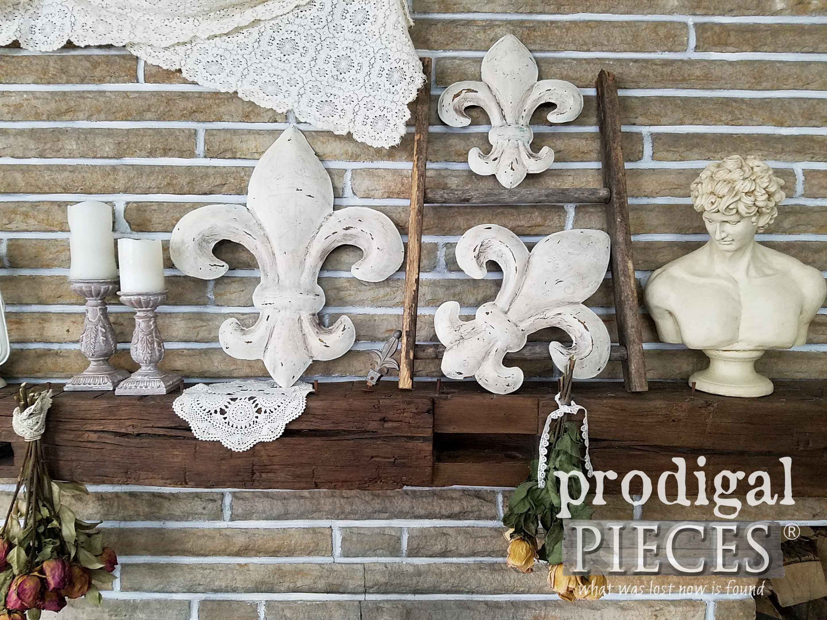 Fleur De Lis Wall Art ~ From Thrifted To Fabulous – Prodigal Inside 2 Piece Metal Wall Decor Sets By Fleur De Lis Living (View 7 of 30)