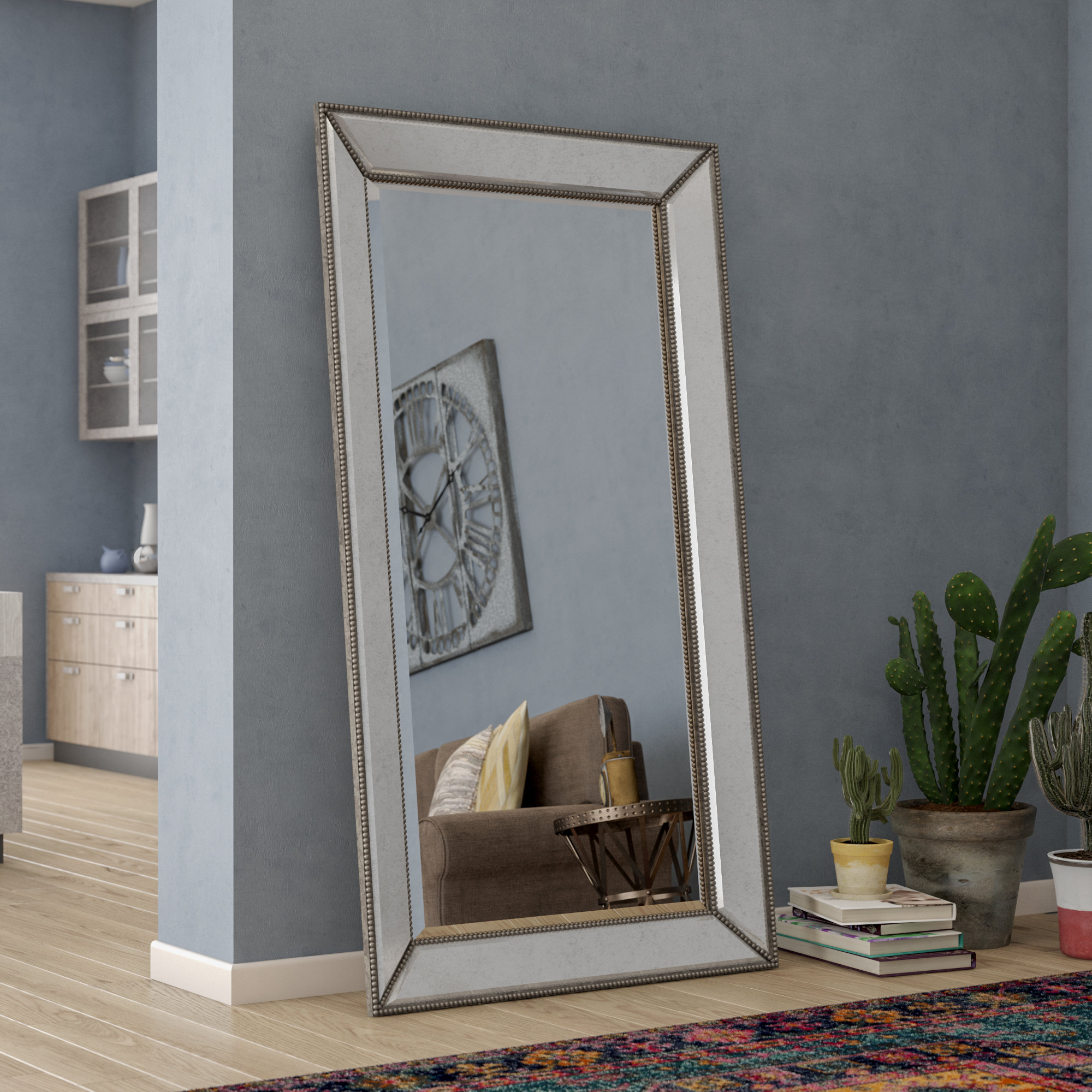Floor Leaner Mirror | Wayfair Regarding Leaning Mirrors (View 2 of 30)