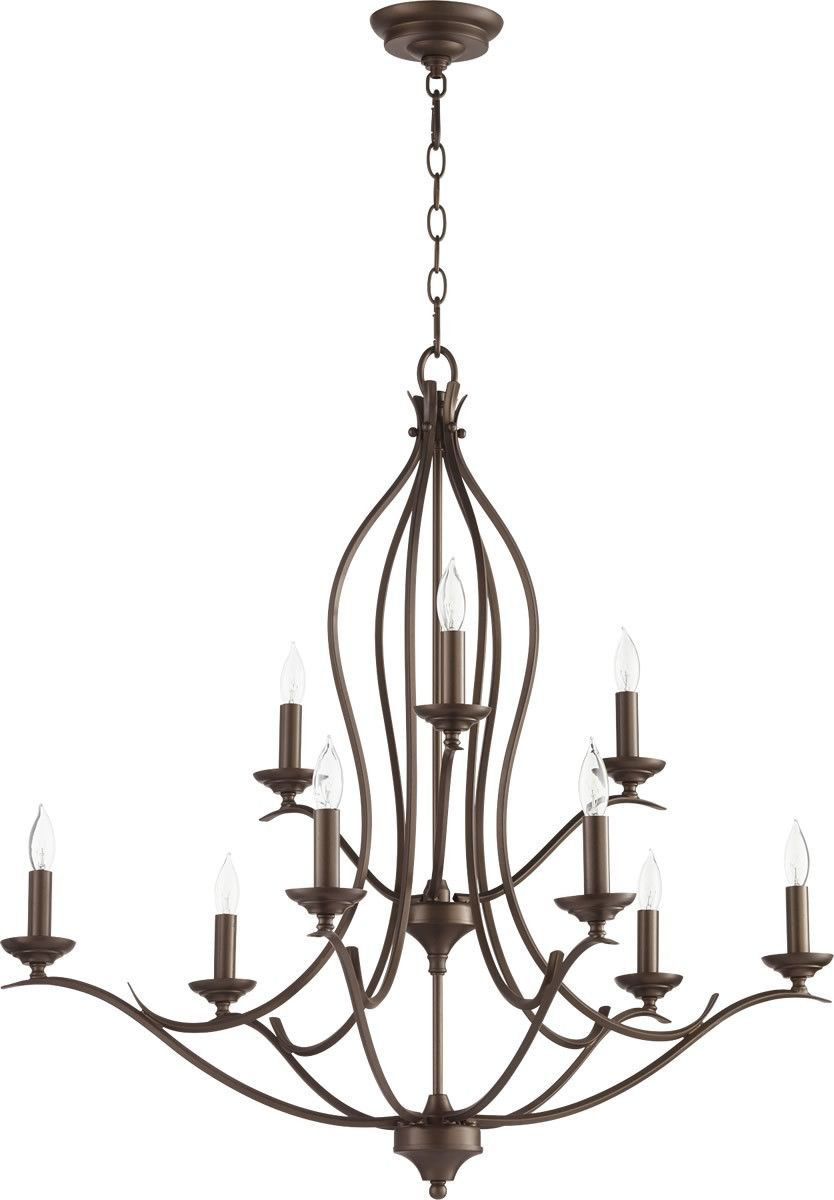 Flora 9-Light Chandelier Oiled Bronze In 2019 | Products with Camilla 9-Light Candle Style Chandeliers (Image 14 of 30)