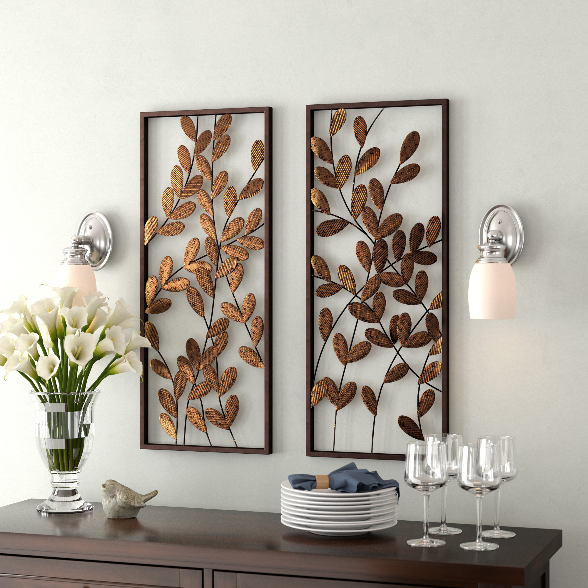 Floral & Botanical Metal Wall Accents You'll Love In 2019 Throughout Three Flowers On Vine Wall Decor (View 6 of 30)