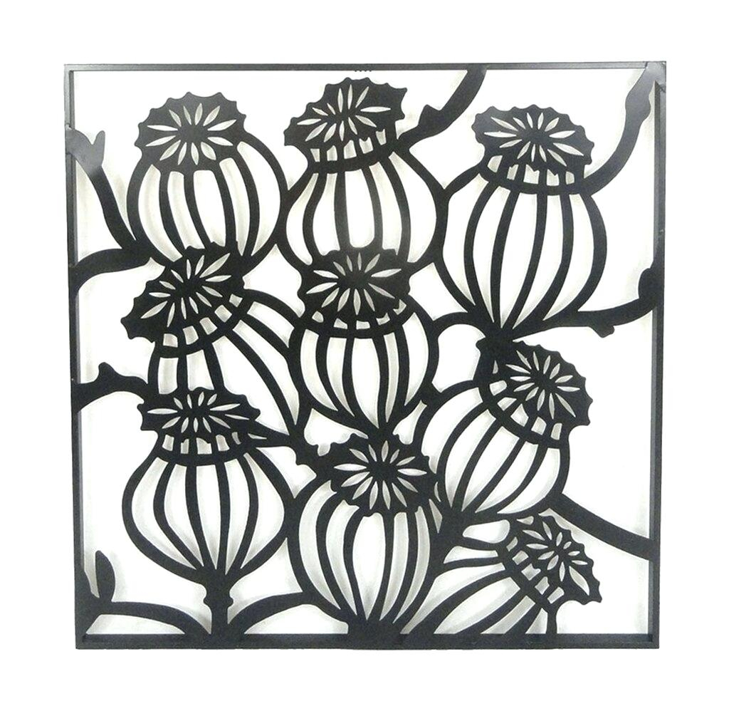 Floral Metal Wall Decor – Ivvitaminbar With Regard To Flower And Butterfly Urban Design Metal Wall Decor (View 20 of 30)