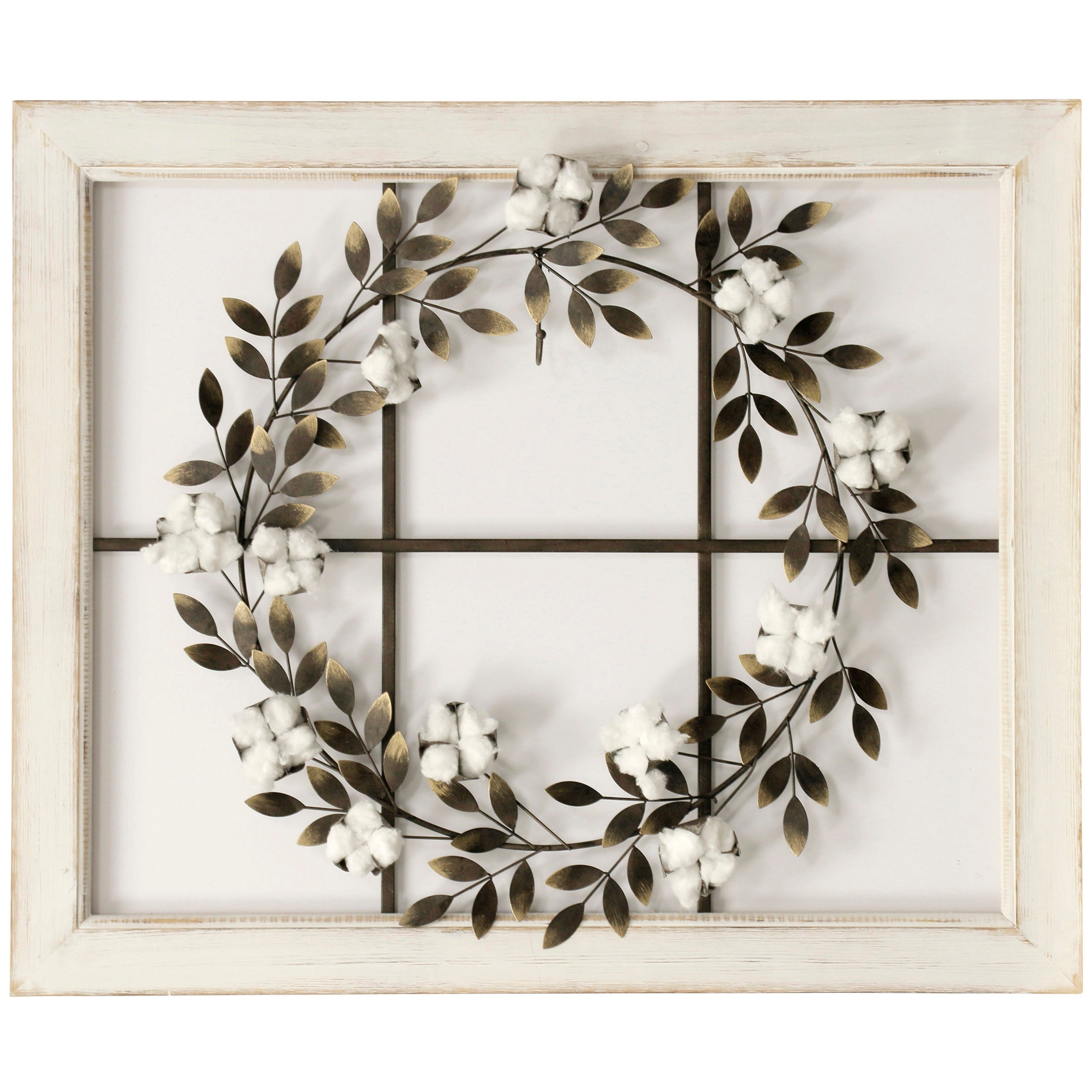 Featured Photo of Floral Wreath Wood Framed Wall Decor
