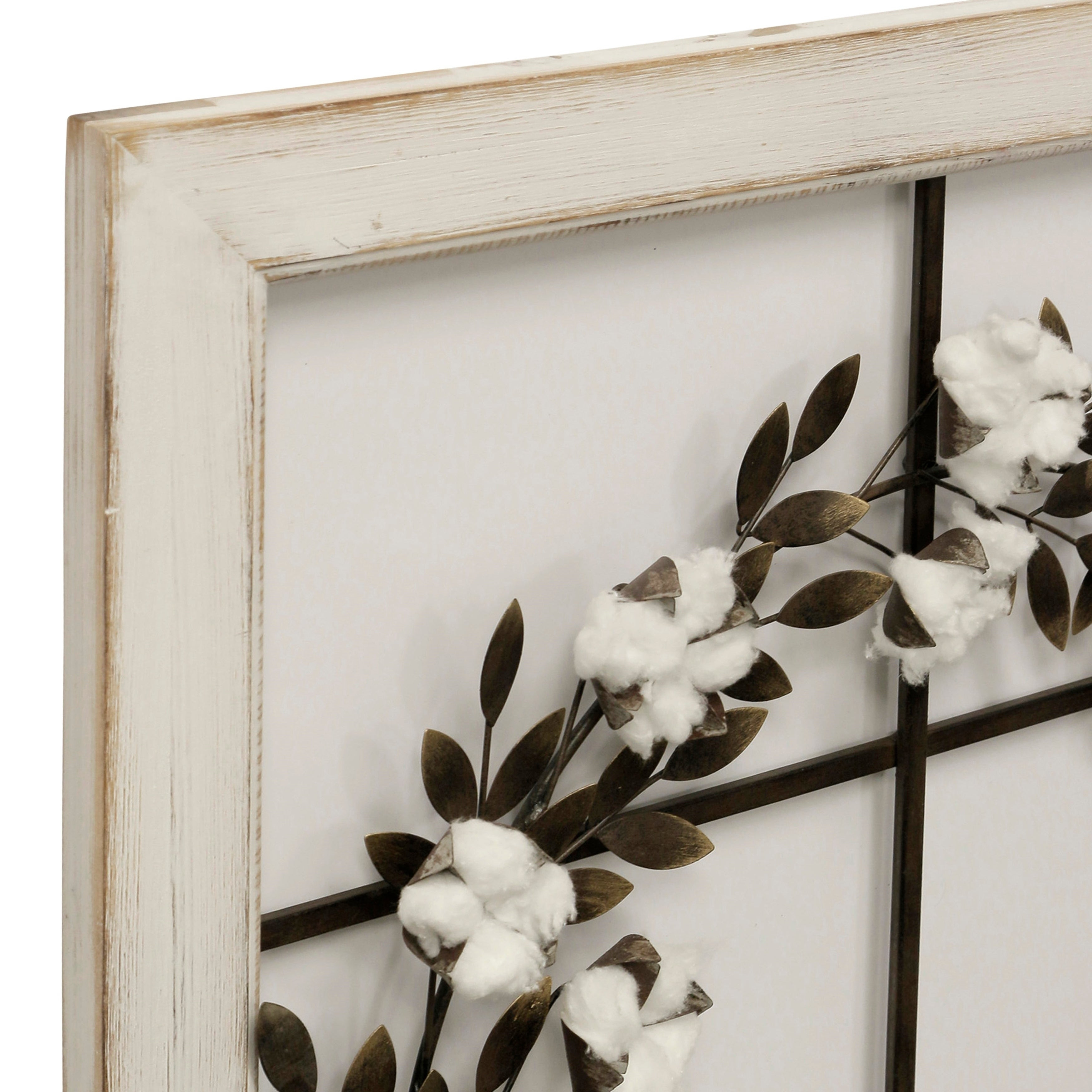 Floral Wreath Wood Framed Wall Art with regard to Floral Wreath Wood Framed Wall Decor (Image 15 of 30)