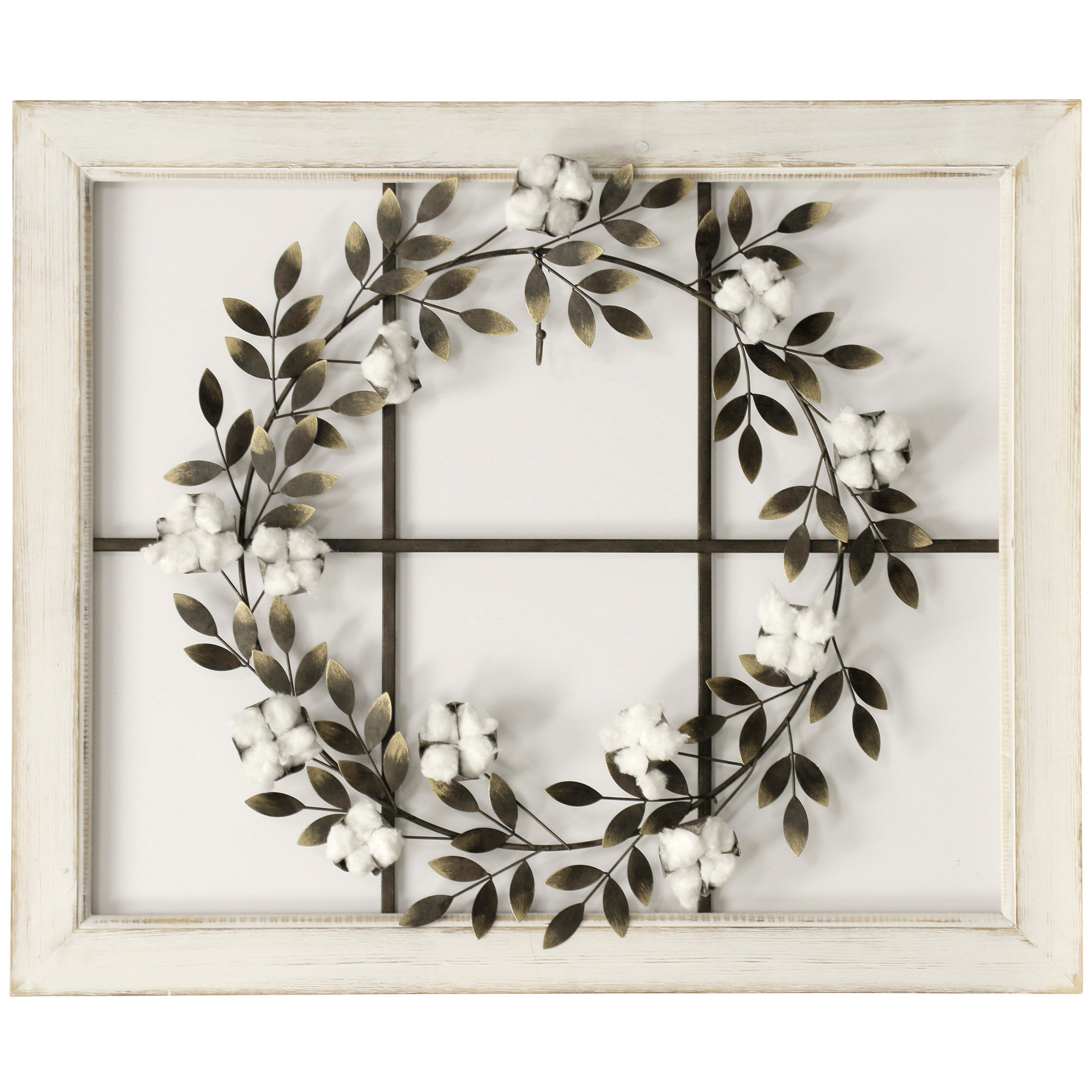 Floral Wreath Wood Framed Wall Décor intended for Desford Leaf Wall Decor (Image 13 of 30)