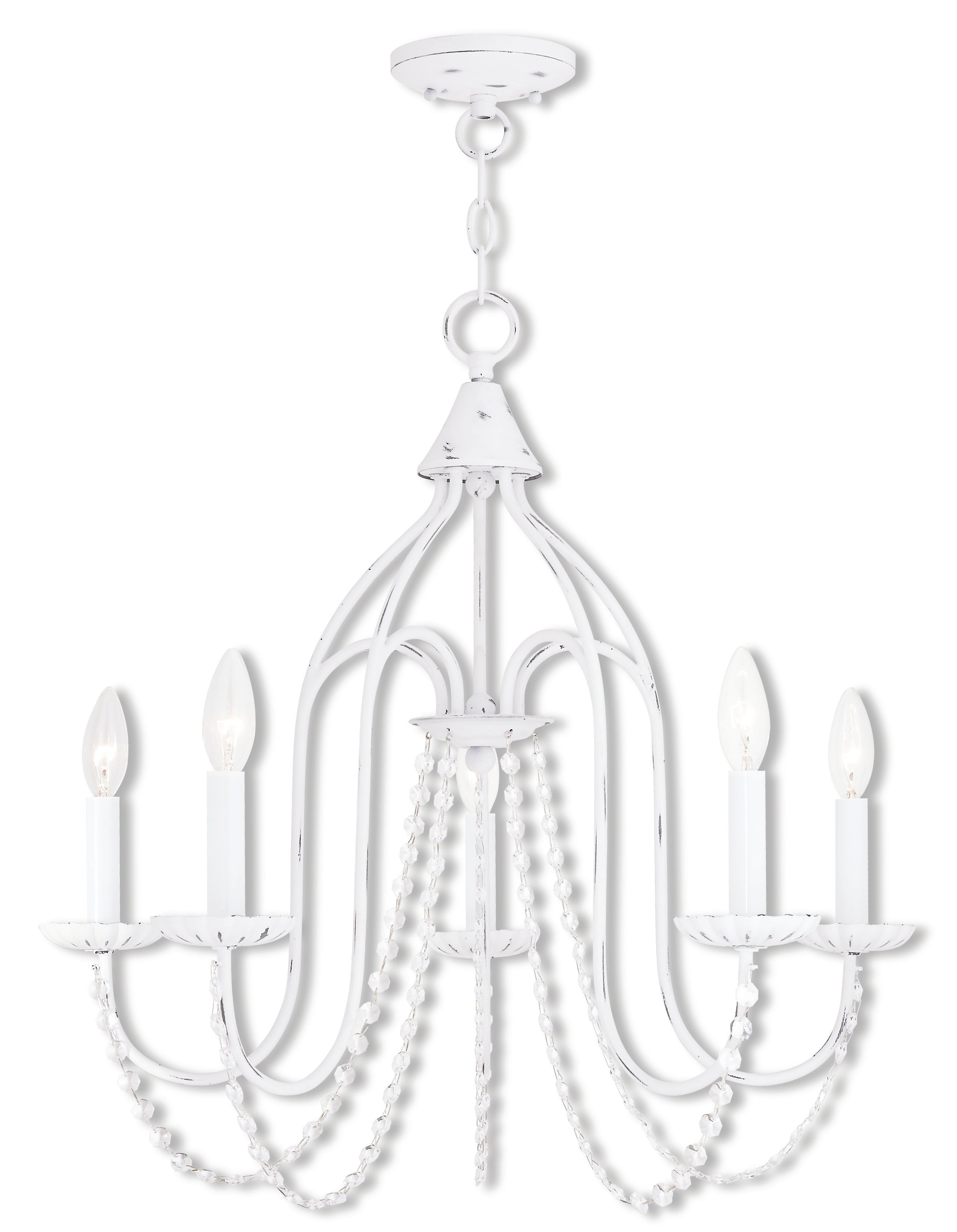 Florentina 5 Light Candle Style Chandelier For Florentina 5 Light Candle Style Chandeliers (View 4 of 30)
