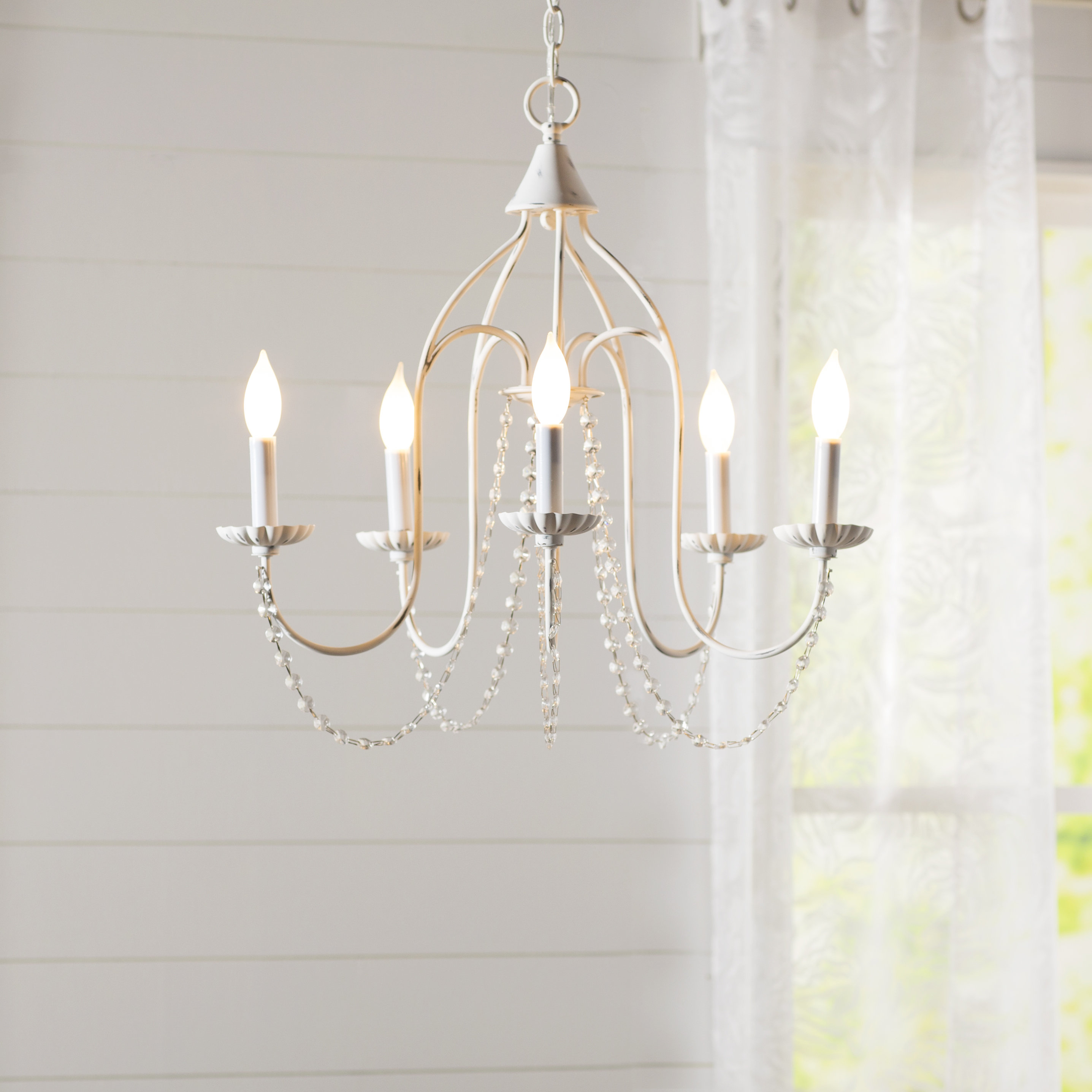 Florentina 5 Light Candle Style Chandelier In Berger 5 Light Candle Style Chandeliers (View 9 of 30)