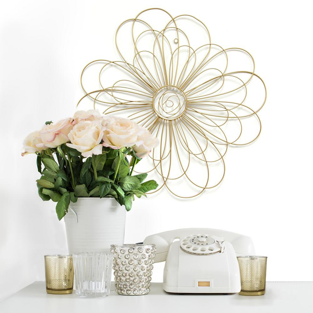Flower Decor Wall   Decoration For Home Regarding Raheem Flowers Metal Wall Decor By Alcott Hill (View 10 of 30)