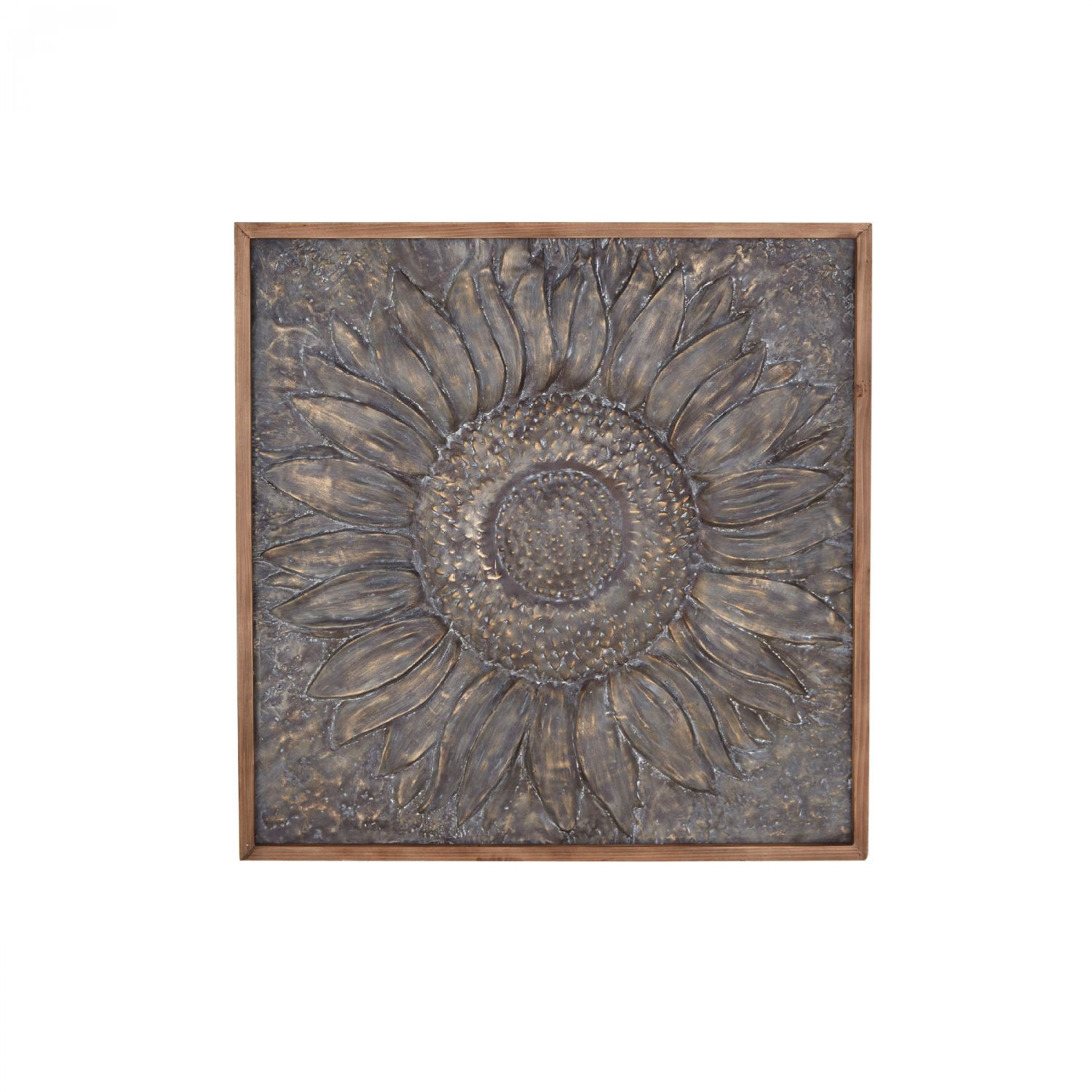 Flower Metal Wall Decor Within Brown Wood And Metal Wall Decor (View 13 of 30)
