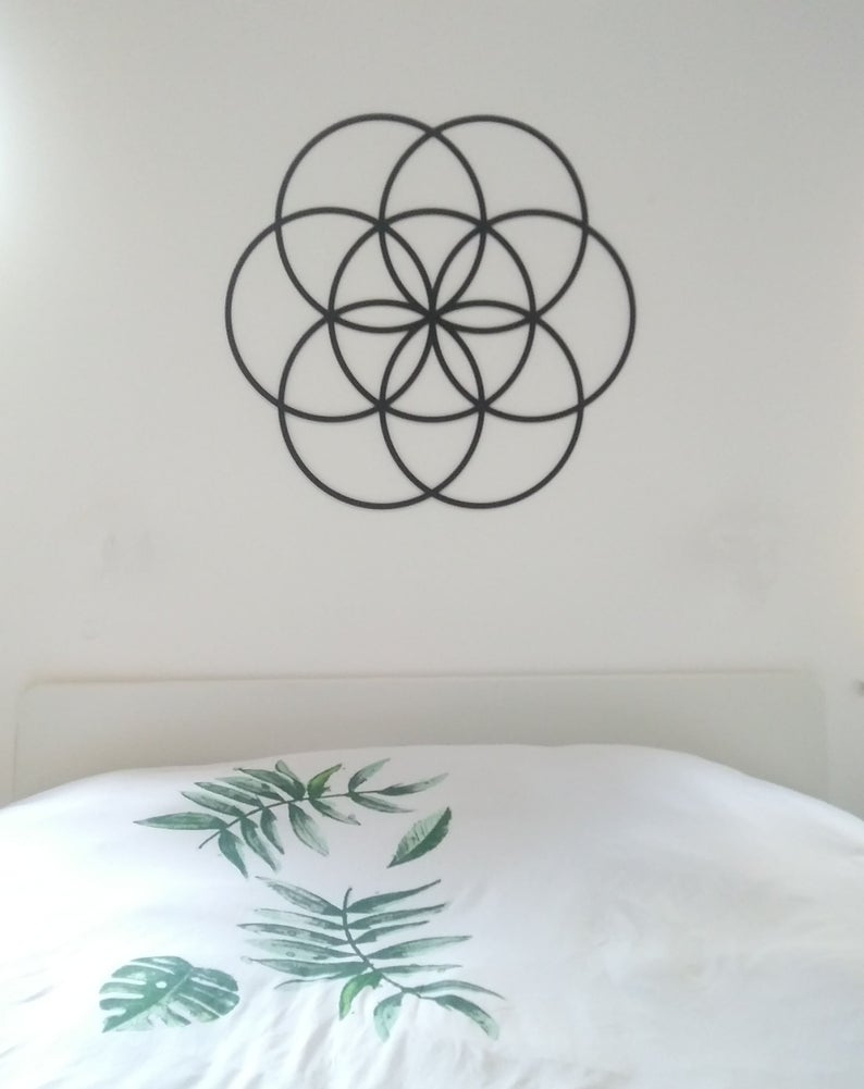 Flower Of Life – Seed Of Life 80 Cm Diameter Inside Metal Universal Wall Decor (View 22 of 30)