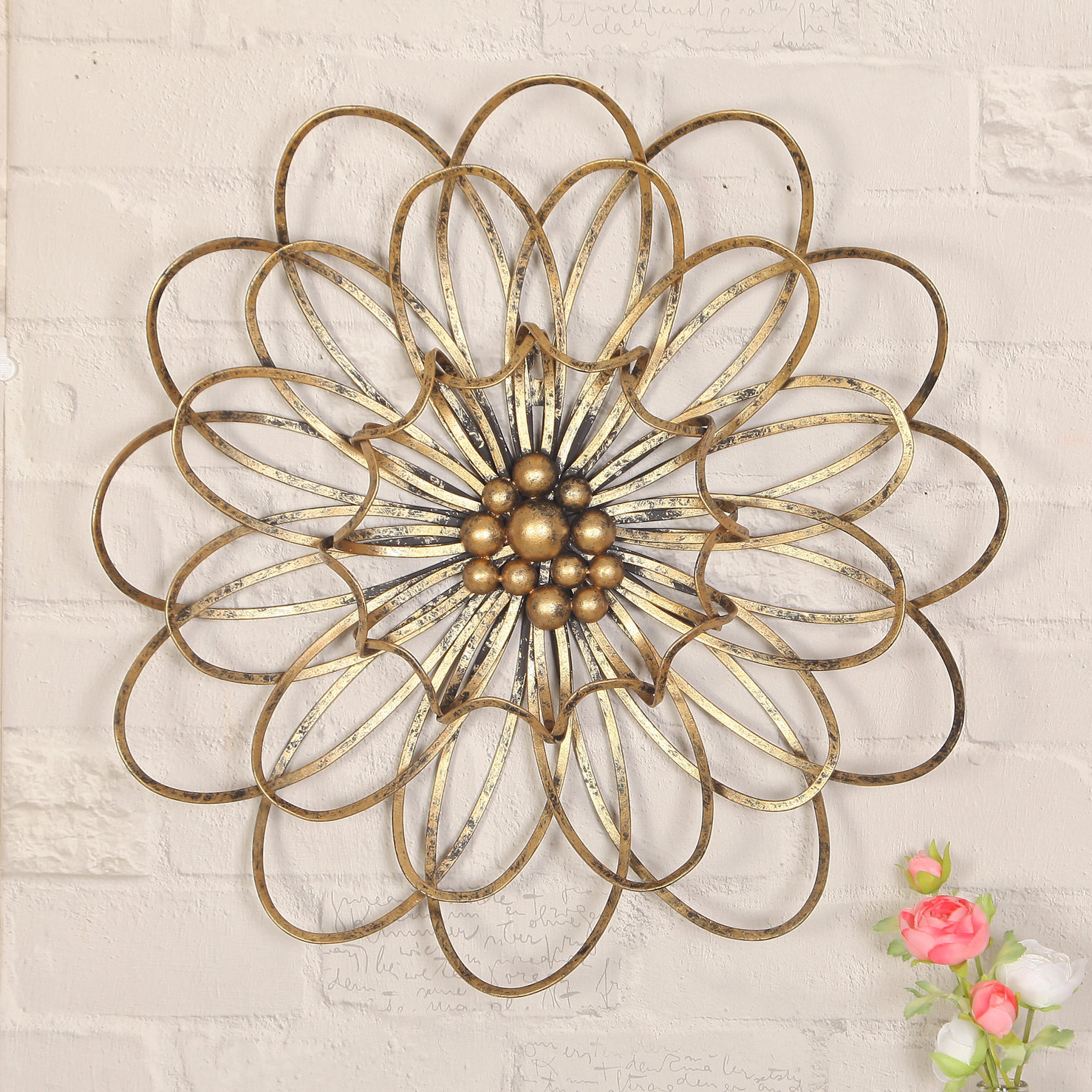 Flower Urban Design Metal Wall Décor With Flower Urban Design Metal Wall Decor (View 2 of 30)