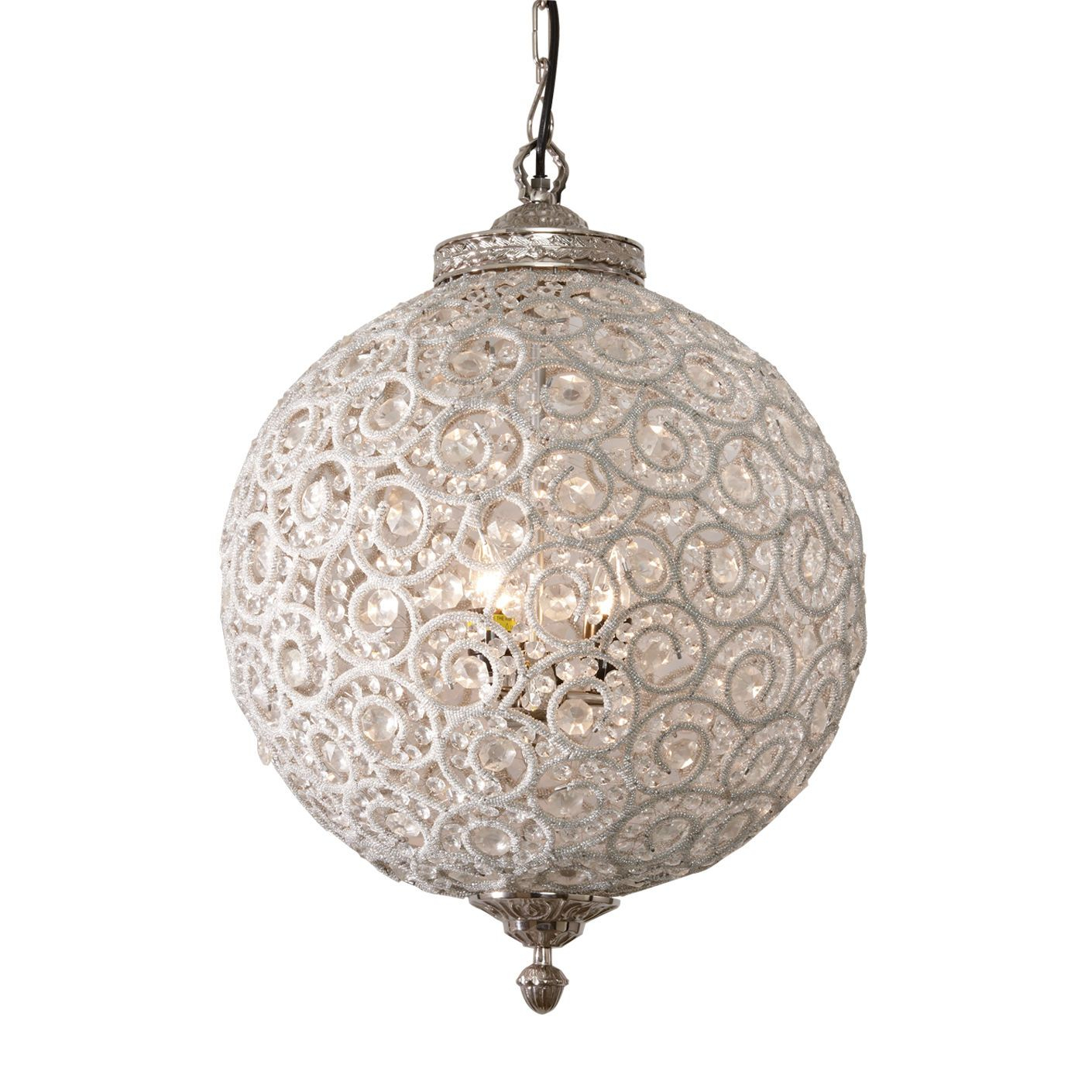 Flowered Ball Chandelier - Ethan Allen Us | Lighting regarding Spokane 1-Light Single Urn Pendants (Image 16 of 30)