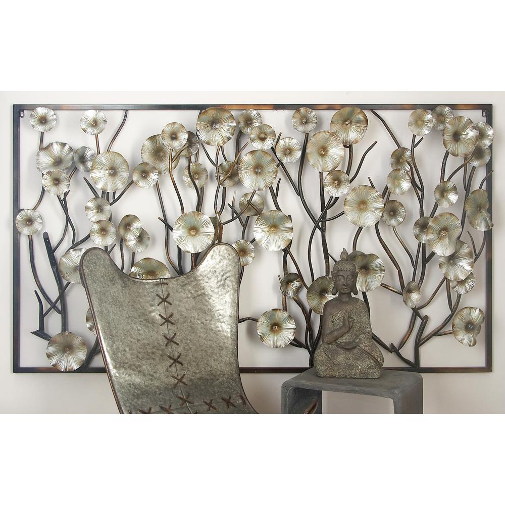 Flowers On A Vine Wall Decor - Flowers Healthy within Metal Wall Decor by Charlton Home (Image 18 of 30)