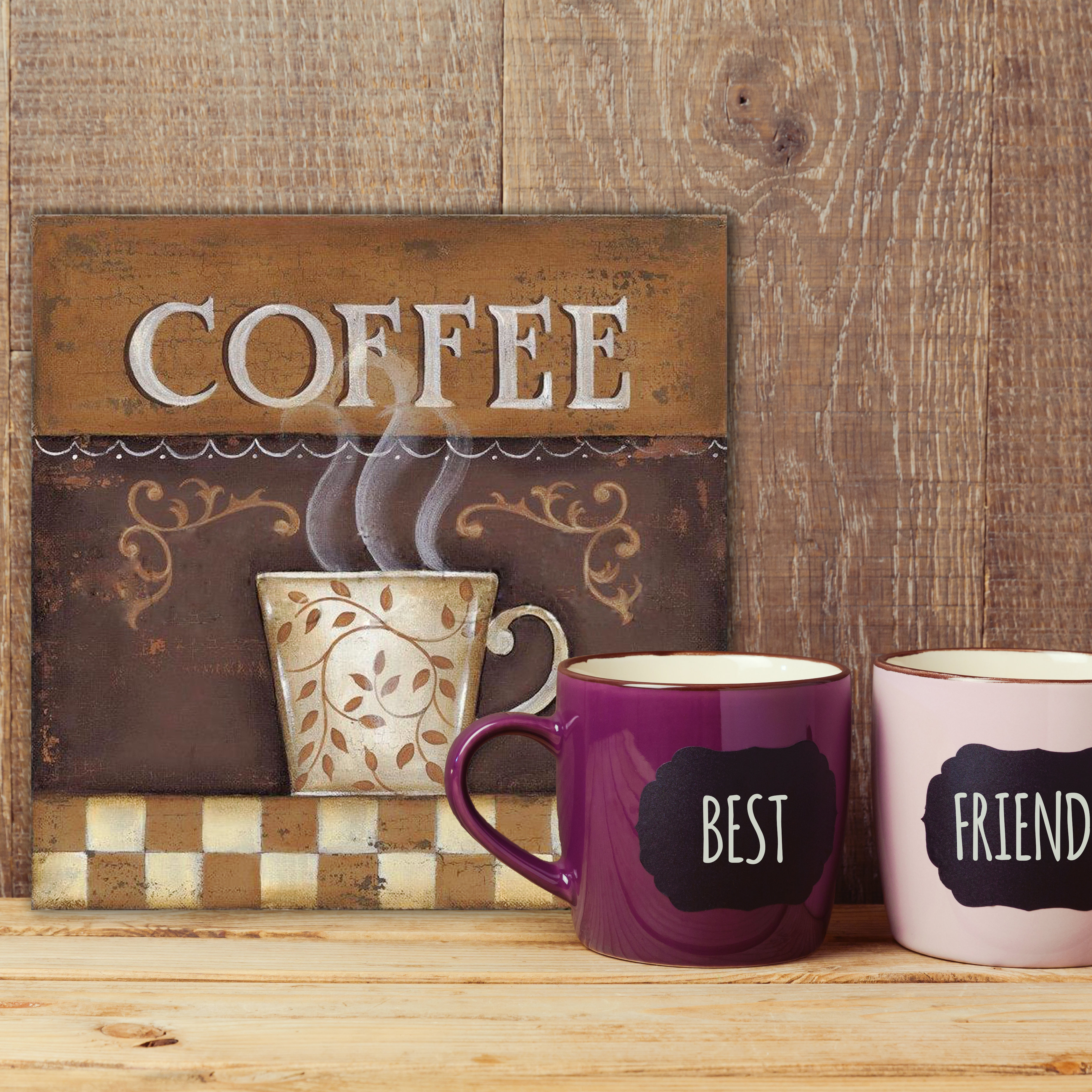 Food & Beverage Metal Wall Accents You'll Love In 2019 | Wayfair regarding Decorative Three Stacked Coffee Tea Cups Iron Widget Wall Decor (Image 17 of 30)