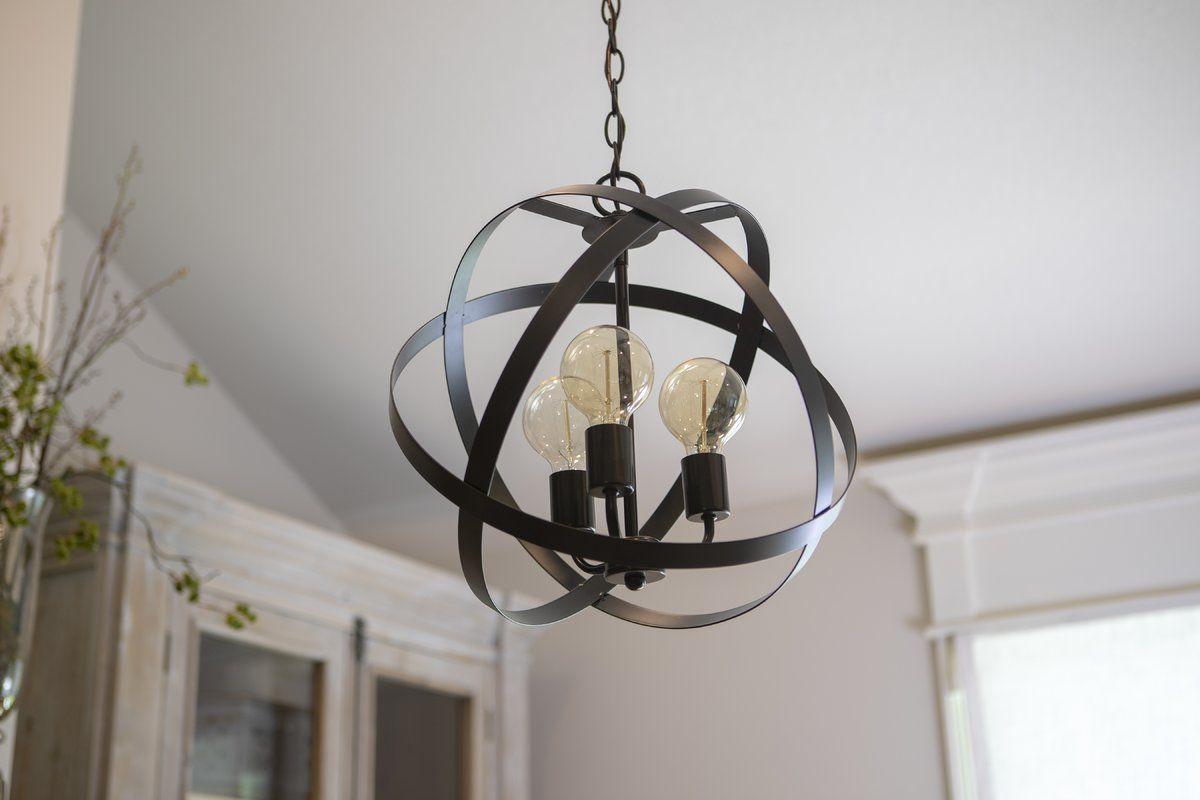 Fordwich 3 Light Globe Chandelier | Decor Ideas In 2019 With Regard To Alden 3 Light Single Globe Pendants (View 8 of 30)