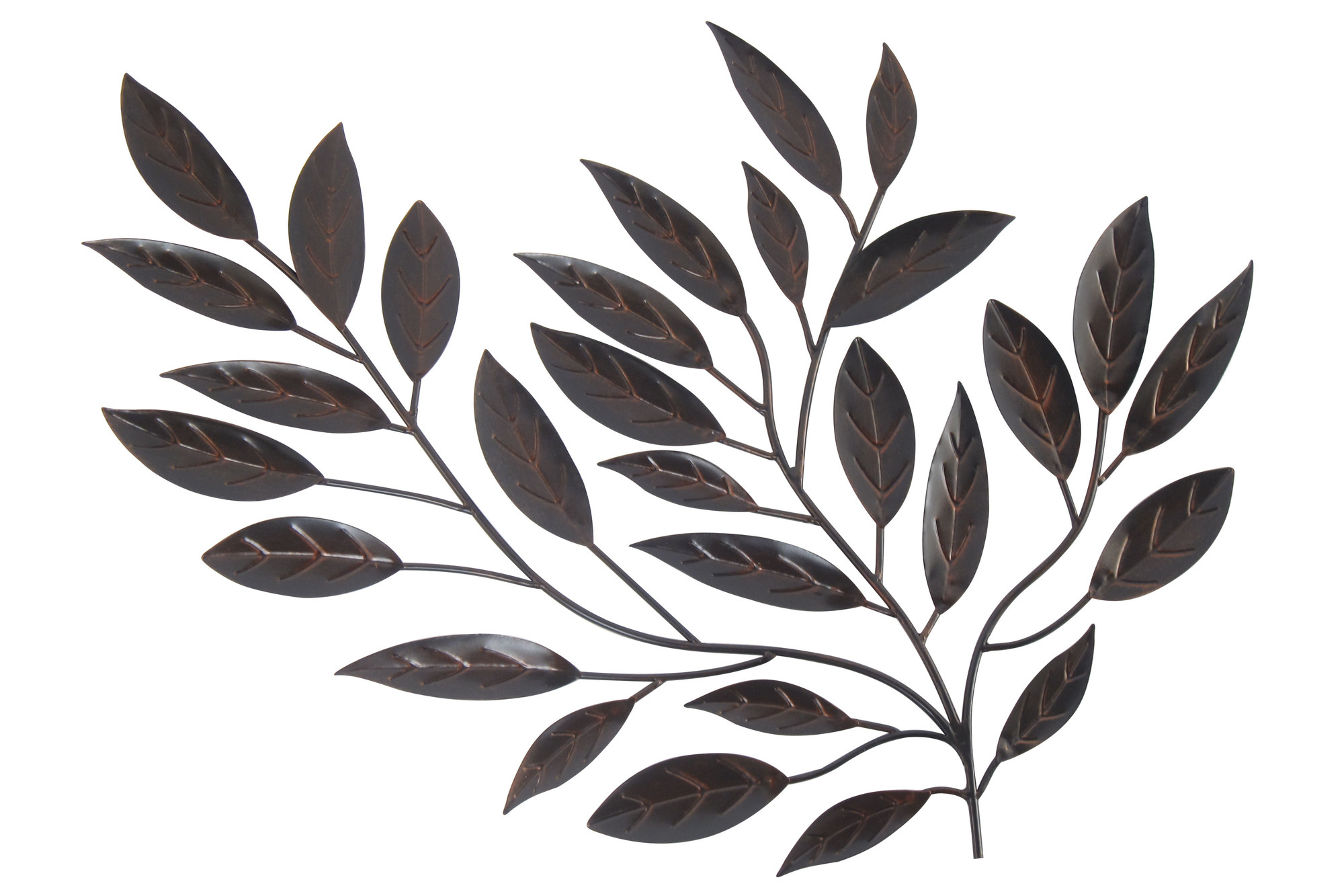 Forged Metal Leaves – Floral Metal Wall Art With Scroll Leaf Wall Decor (View 16 of 30)