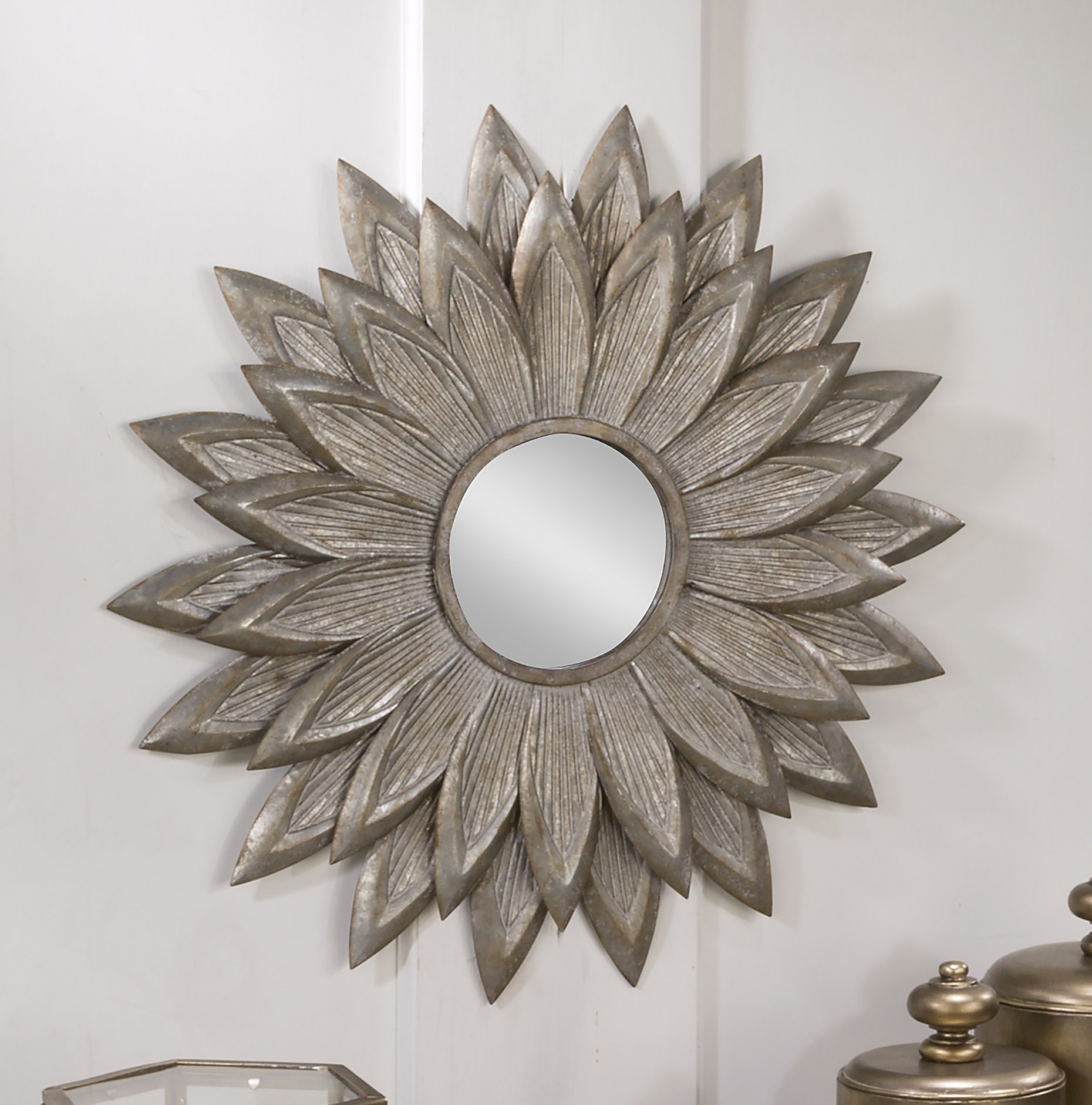 Fossett Sunflower Eclectic Accent Mirror With Newtown Accent Mirrors (View 7 of 30)