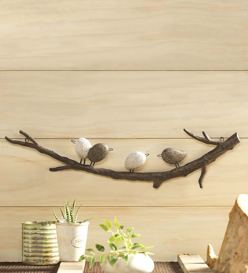 Four Birds On A Branch Wall Art | Wall Art & Wall Decor In Throughout Birds On A Branch Wall Decor (View 3 of 30)