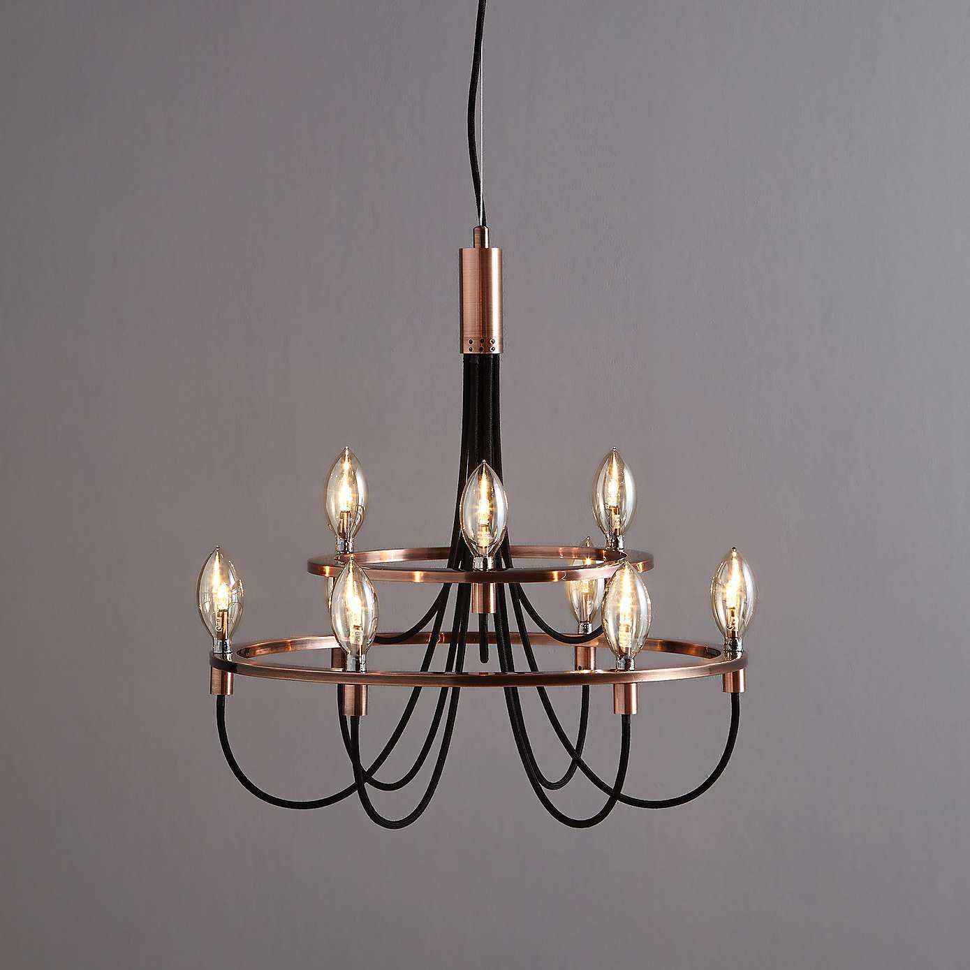 Fredirica 9 Light Copper Chandelier | 《华洋灯饰》创意吊灯 With Regard To Kenedy 9 Light Candle Style Chandeliers (View 17 of 30)
