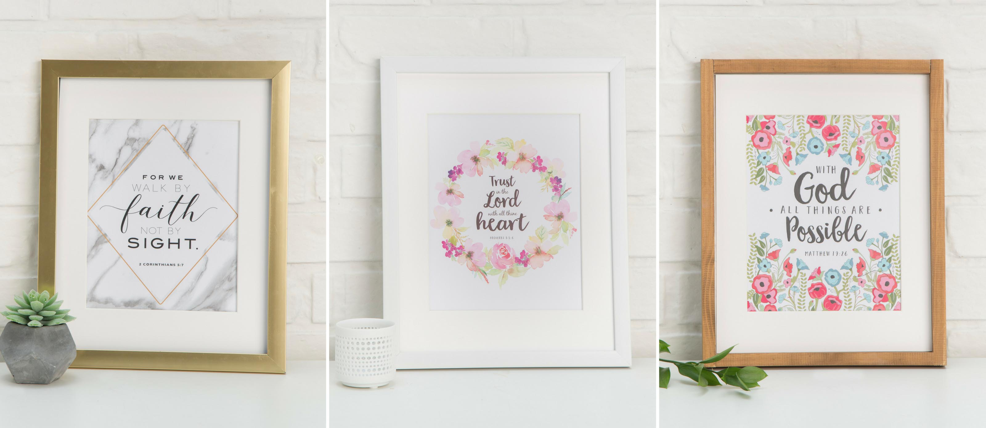 Free Printable Bible Verse Wall Art | Fun365 for Floral Wreath Wood Framed Wall Decor (Image 18 of 30)