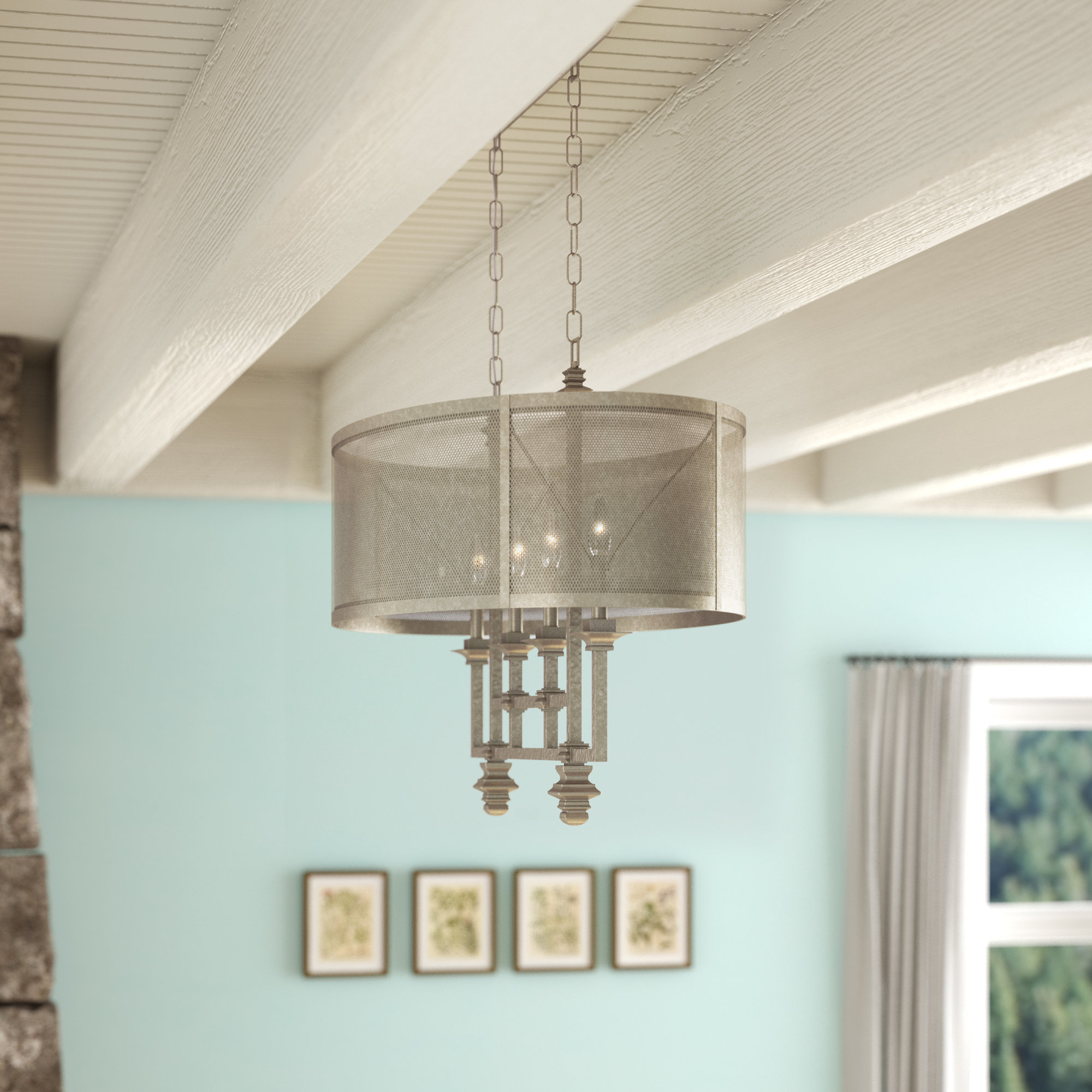 Freeburg 4 Light Chandelier For Millbrook 5 Light Shaded Chandeliers (View 10 of 30)
