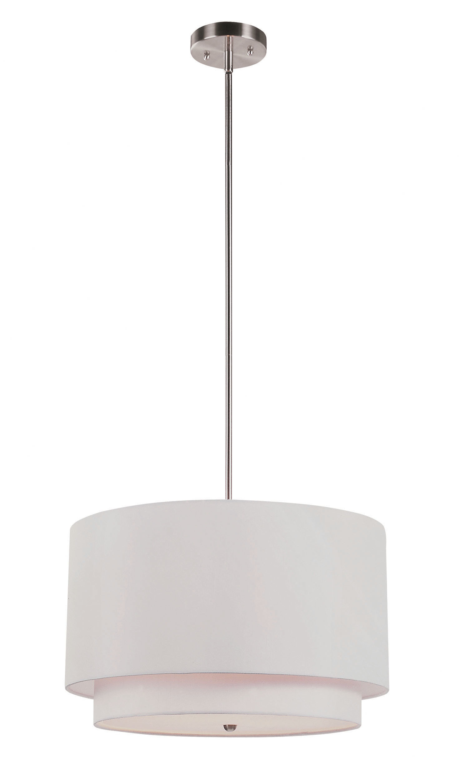 Friedland 3-Light Drum Tiered Pendant for Montes 3-Light Drum Chandeliers (Image 11 of 30)