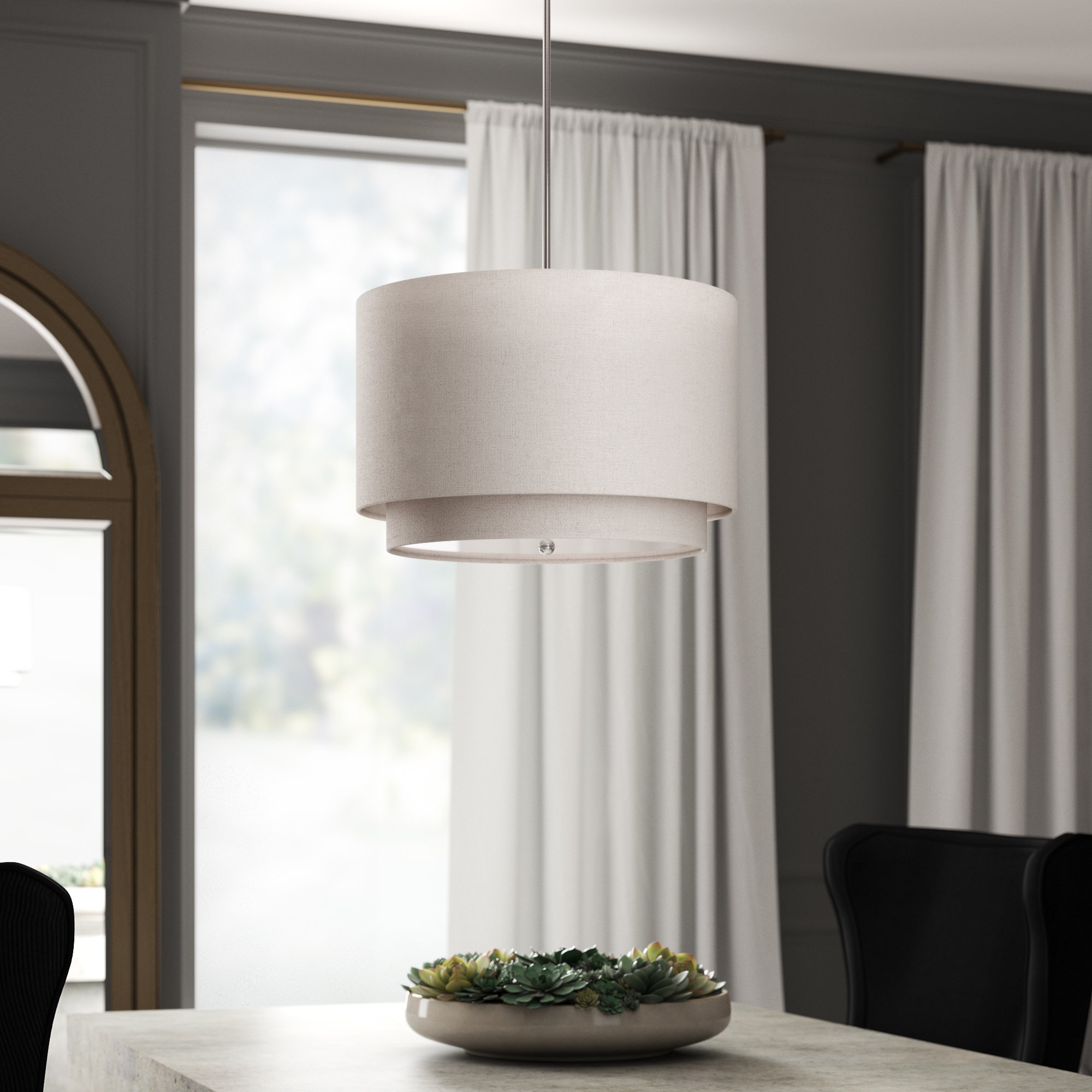 Friedland 3 Light Drum Tiered Pendant With Friedland 3 Light Drum Tiered Pendants (View 2 of 30)