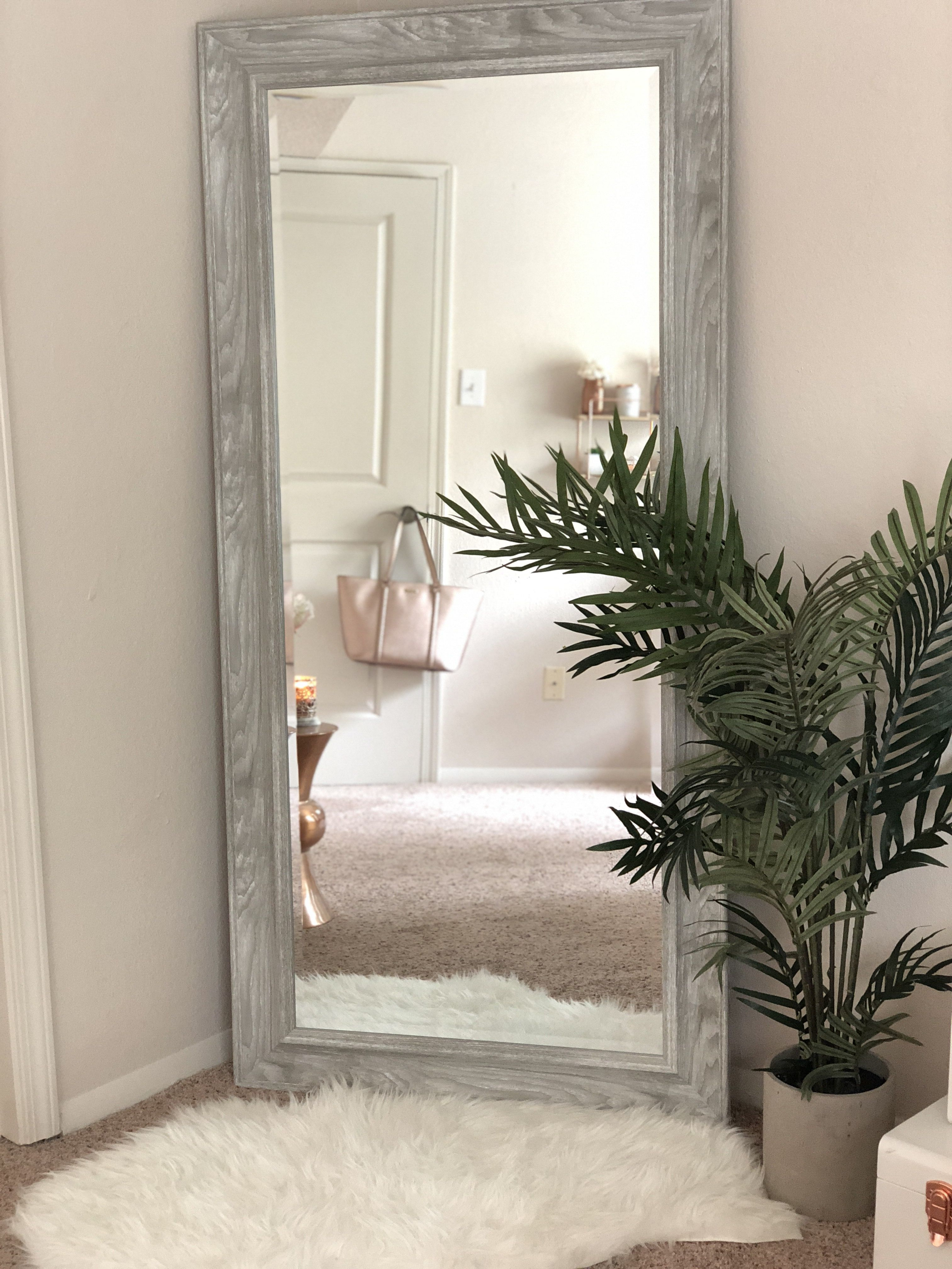 Full Length Mirror | Rose Gold In 2019 | Big Mirror In Inside Handcrafted Farmhouse Full Length Mirrors (View 14 of 30)