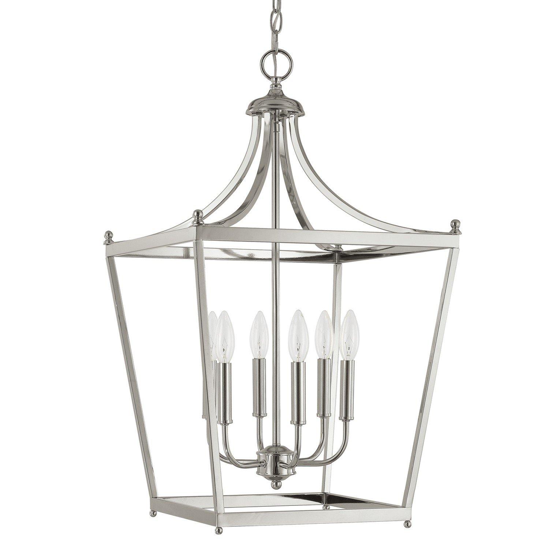Gabriella 6 Light Pendant & Reviews | Joss & Main In Gabriella 3 Light Lantern Chandeliers (View 12 of 30)