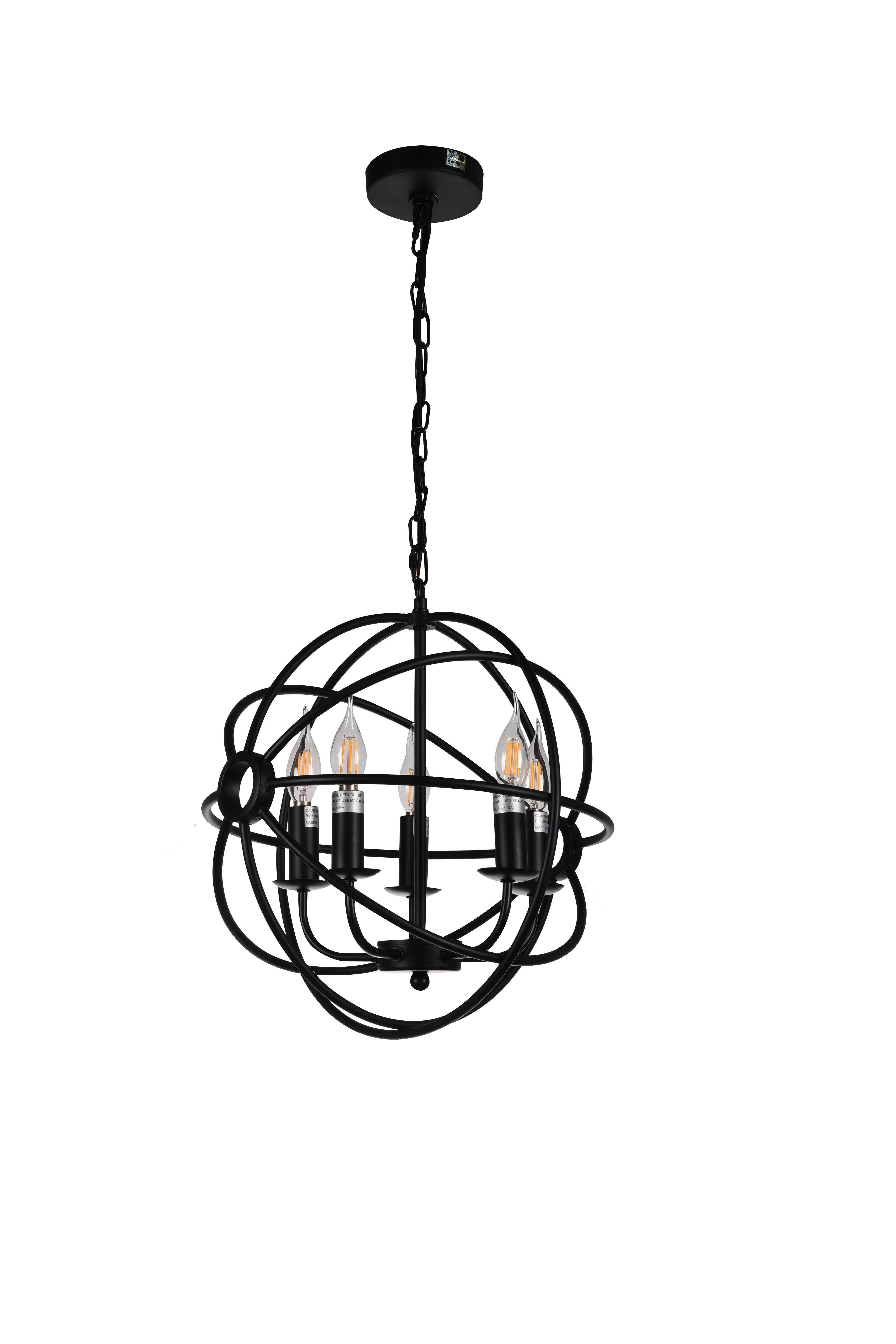Gaffney 5-Light Globe Chandelier for Shipststour 3-Light Globe Chandeliers (Image 13 of 30)