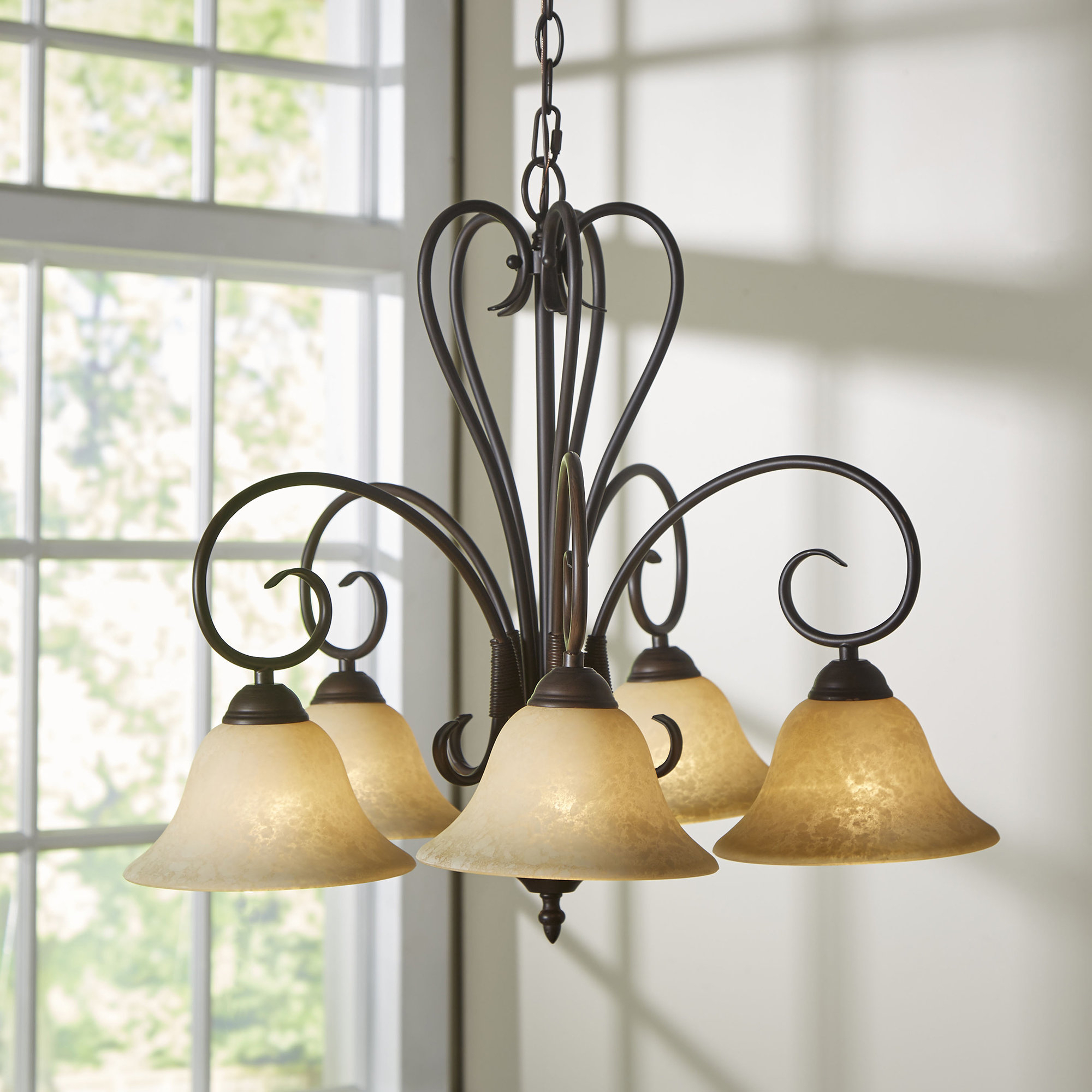 Gaines 5 Light Shaded Chandelier With Regard To Newent 5 Light Shaded Chandeliers (View 16 of 30)