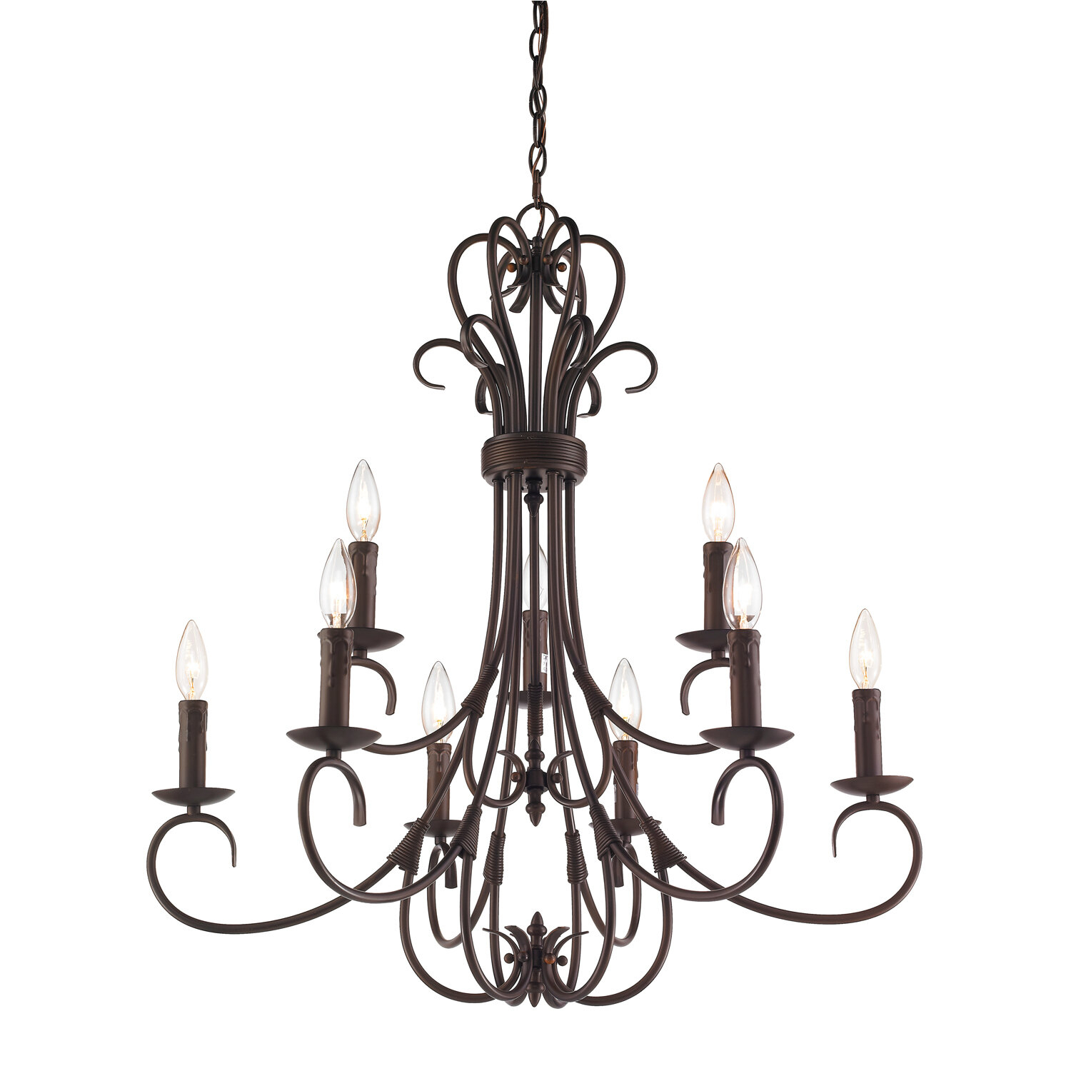 Gaines 9 Light Candle Style Chandelier With Gaines 9 Light Candle Style Chandeliers (View 2 of 30)