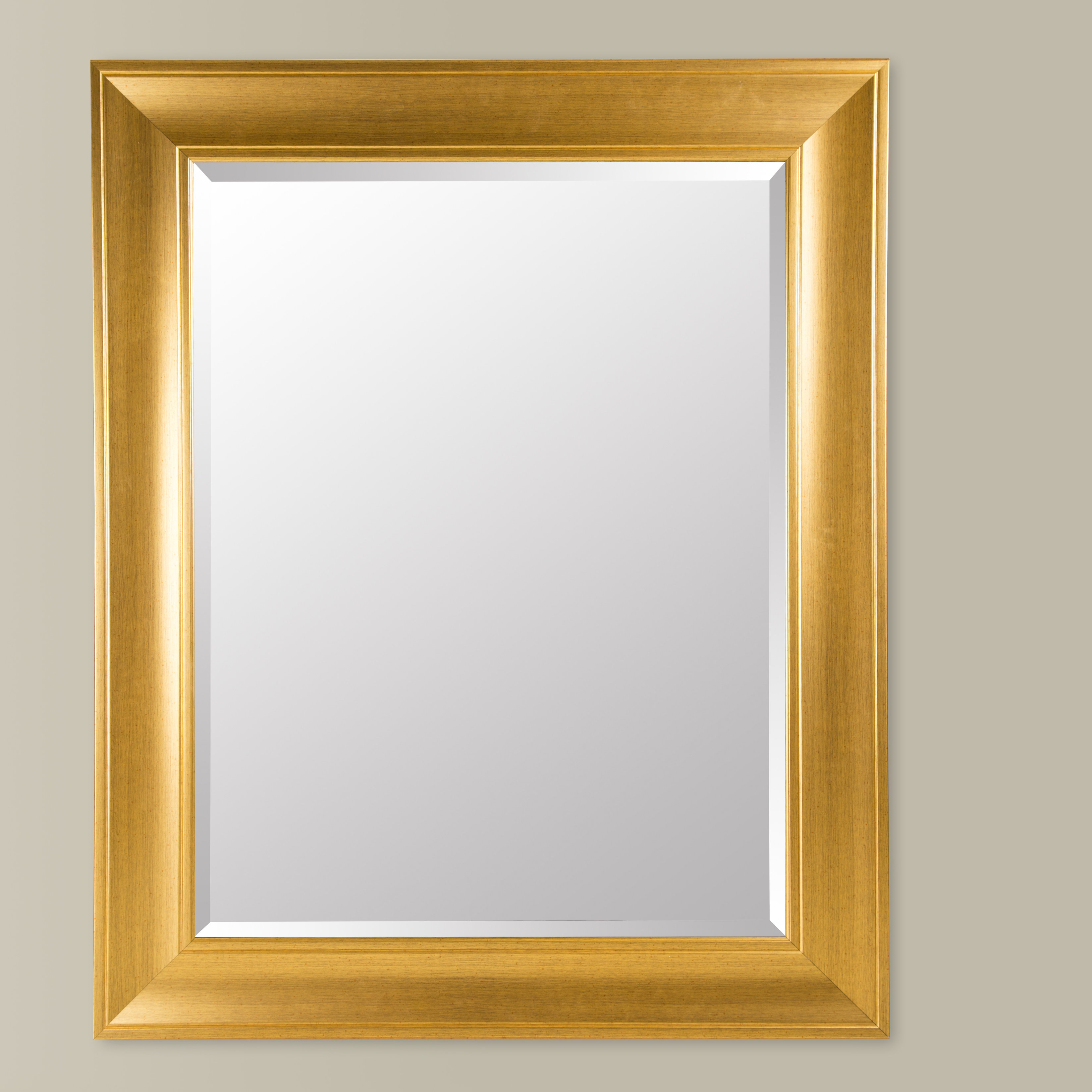 Gallery Solutions Modern & Contemporary Beveled Wall Mirror for Modern & Contemporary Beveled Wall Mirrors (Image 13 of 30)