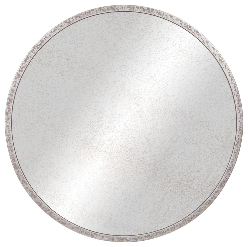 "Galvanized Metal Round Antiqued Wall Mirror, 30"" Throughout Round Galvanized Metallic Wall Mirrors (View 11 of 30)"