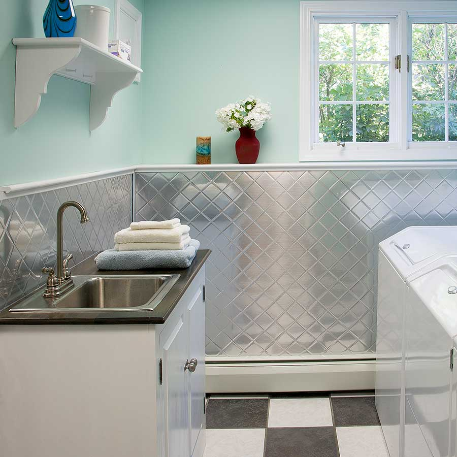 Galvanized Metal Sheets In Laundry Room | Royals Courage regarding Metal Laundry Room Wall Decor (Image 9 of 30)