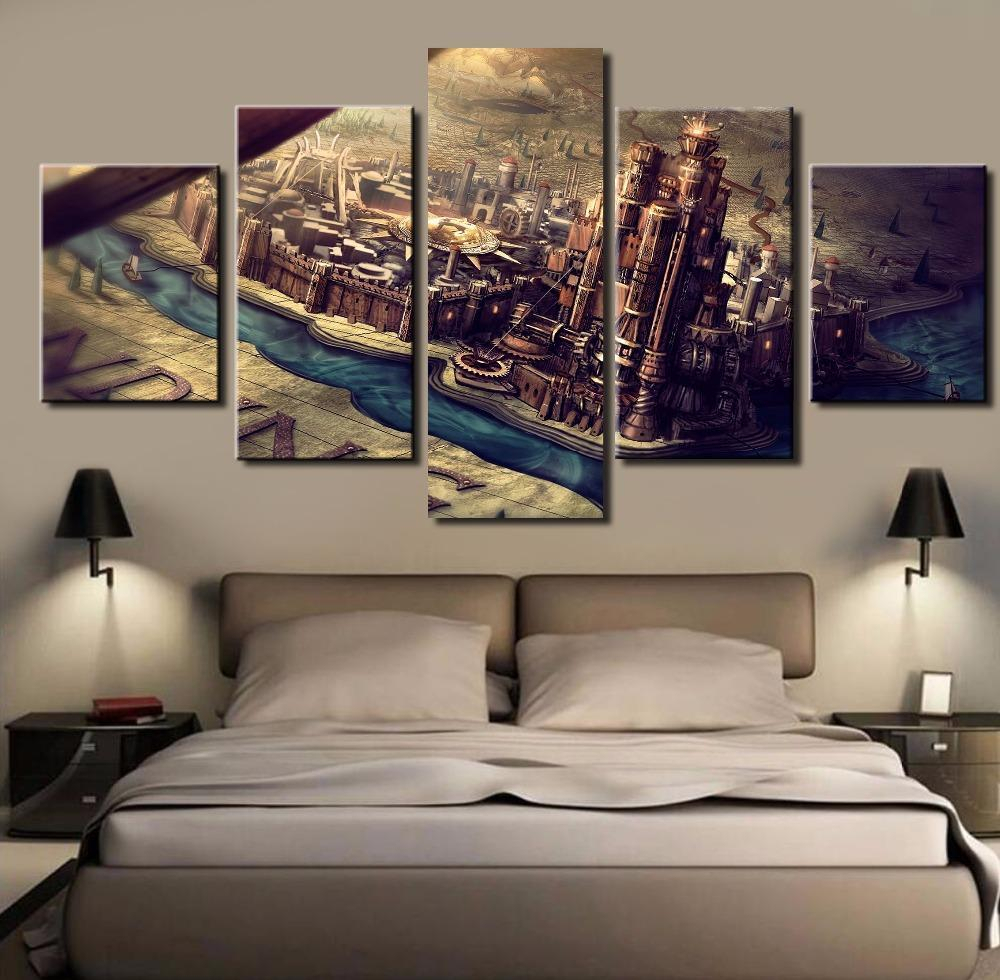 Game Of Thrones Westeros Map Kings Landing – Movie 5 Panel Canvas Art Wall Decor For Landing Art Wall Decor (View 12 of 30)