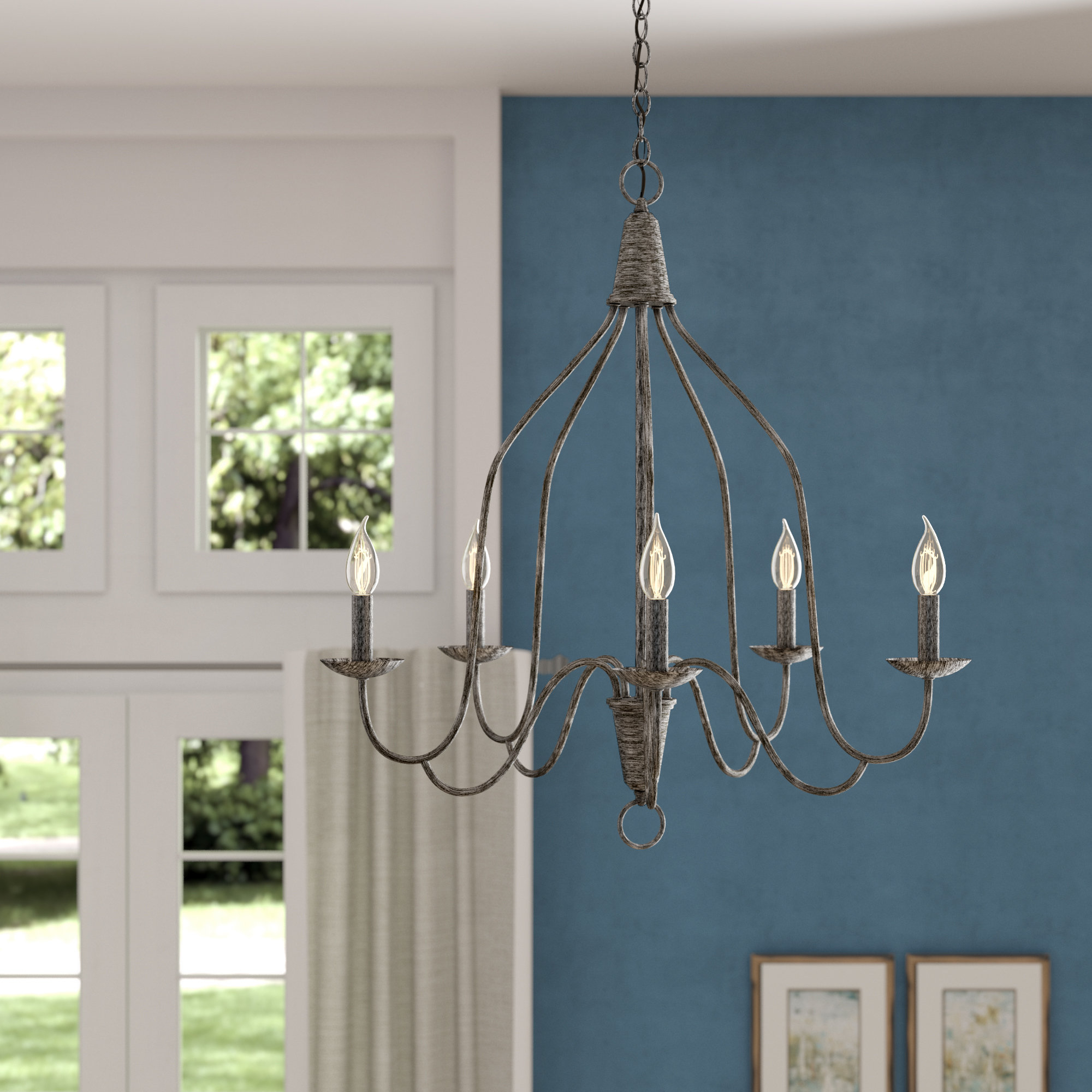 Geeta 5 Light Candle Style Chandelier With Regard To Florentina 5 Light Candle Style Chandeliers (View 21 of 30)