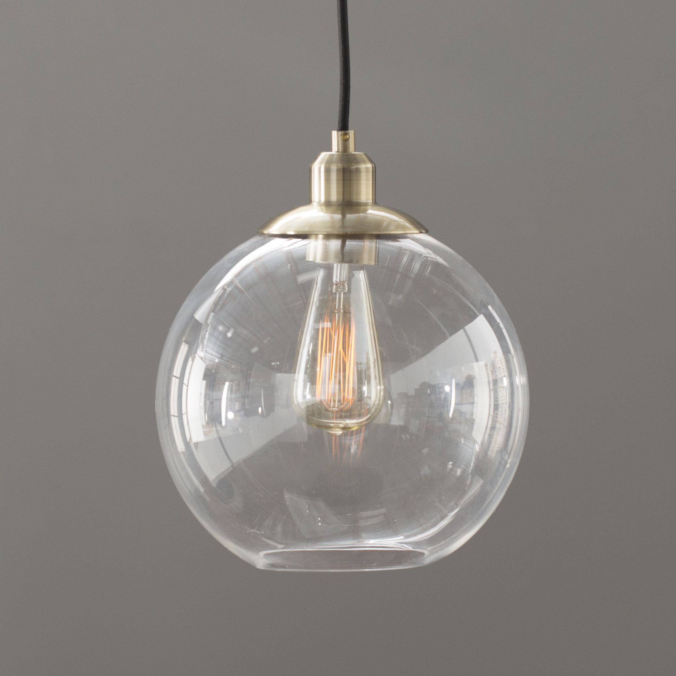 Gehry 1-Light Globe Pendant with Abordale 1-Light Single Dome Pendants (Image 15 of 30)