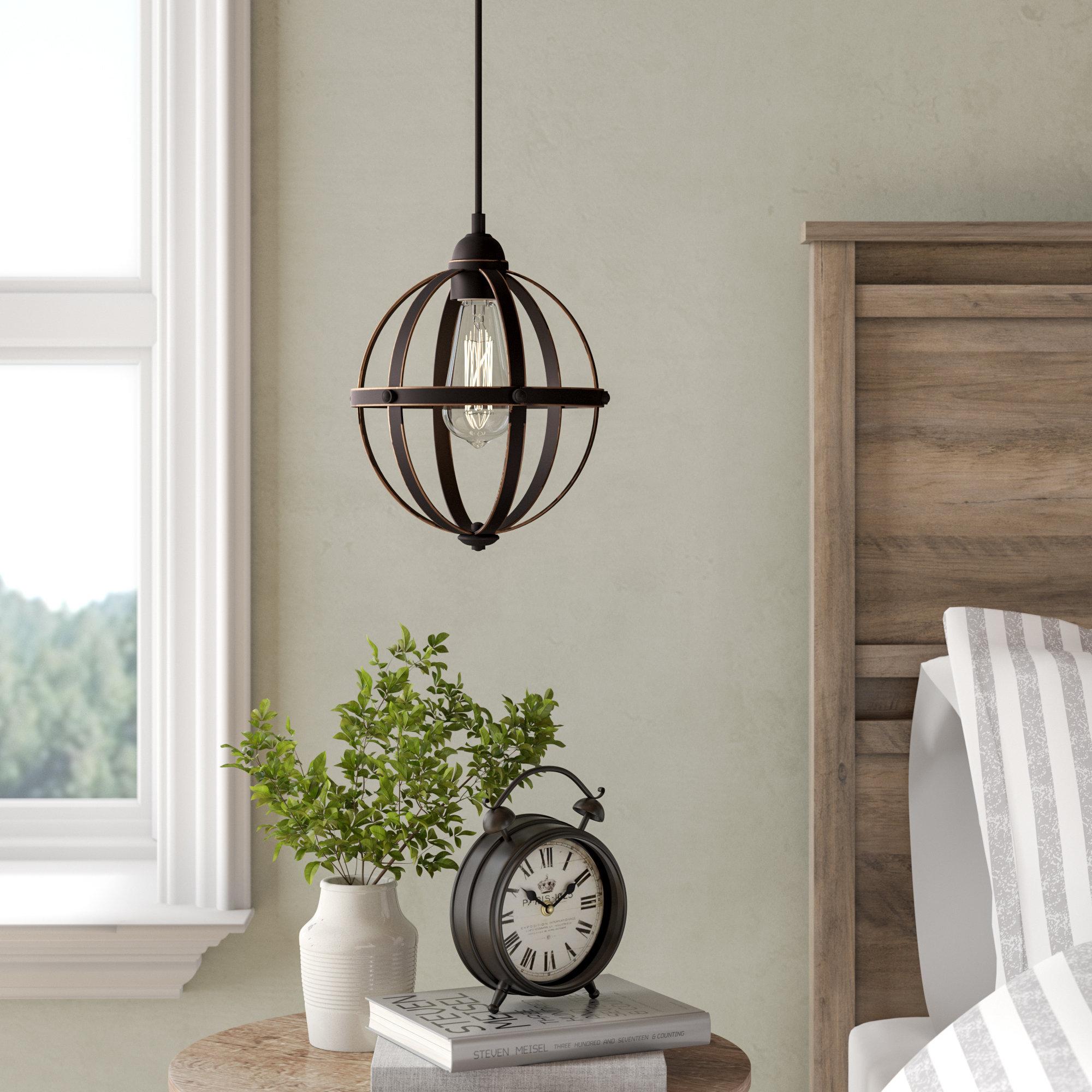 Genna 1 Light Single Globe Pendant Regarding Irwin 1 Light Single Globe Pendants (View 12 of 30)