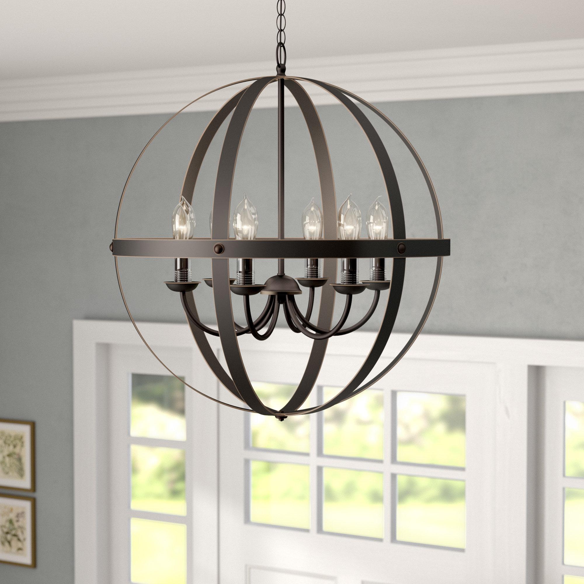Genna 6-Light Globe Chandelier throughout Donna 6-Light Globe Chandeliers (Image 17 of 30)