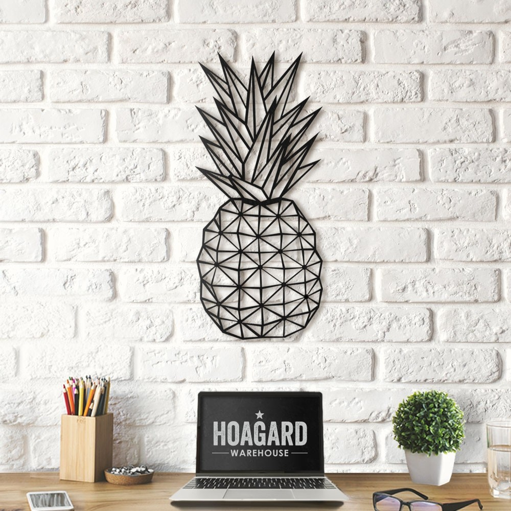 Geometric Pineapple Intended For Pineapple Wall Decor (View 2 of 30)