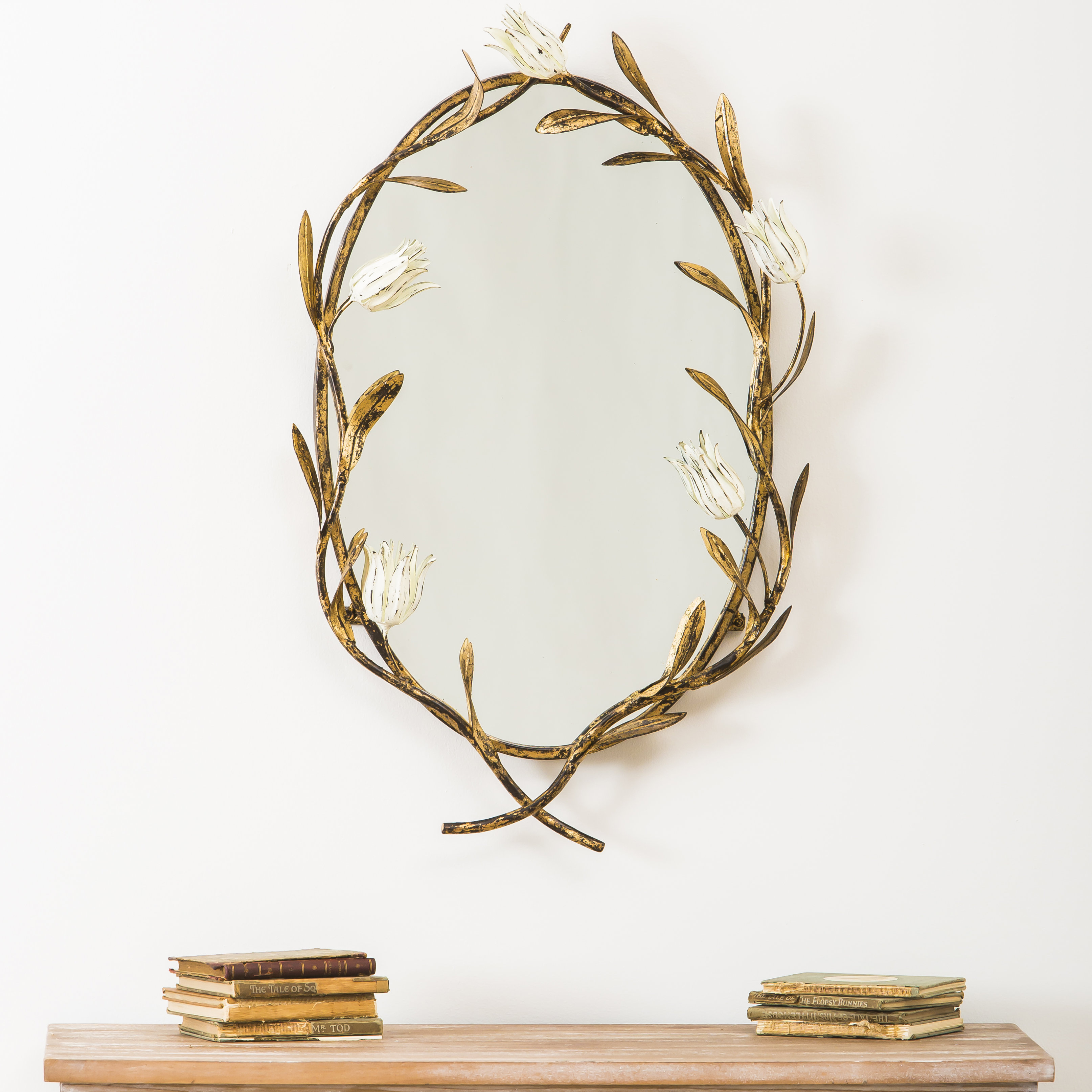 Gertruda Flowers And Twigs Accent Mirror Inside Luna Accent Mirrors (View 3 of 30)