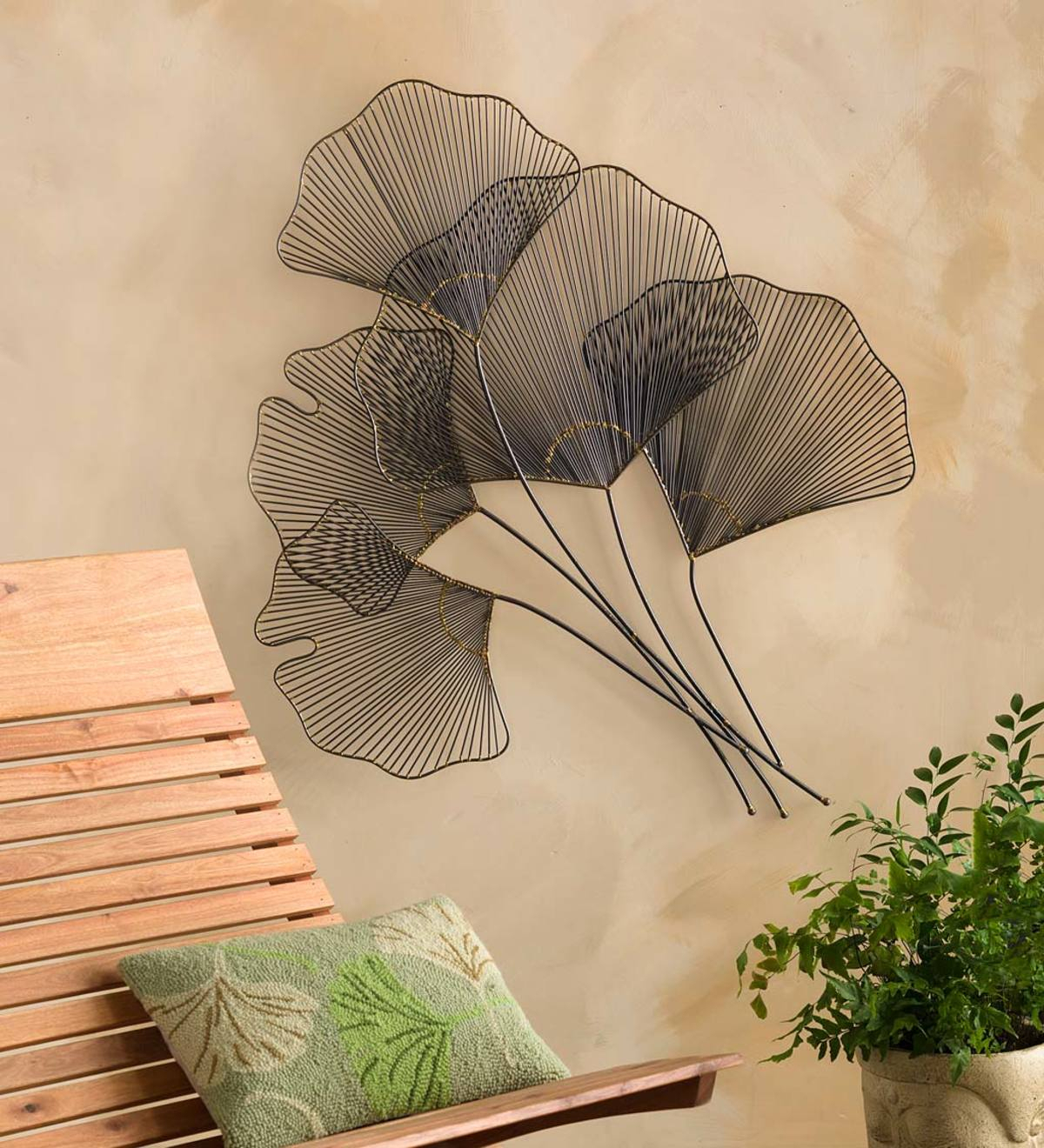 Ginkgo Wall Art | Vivaterra Within Tree Shell Leaves Sculpture Wall Decor (View 23 of 30)