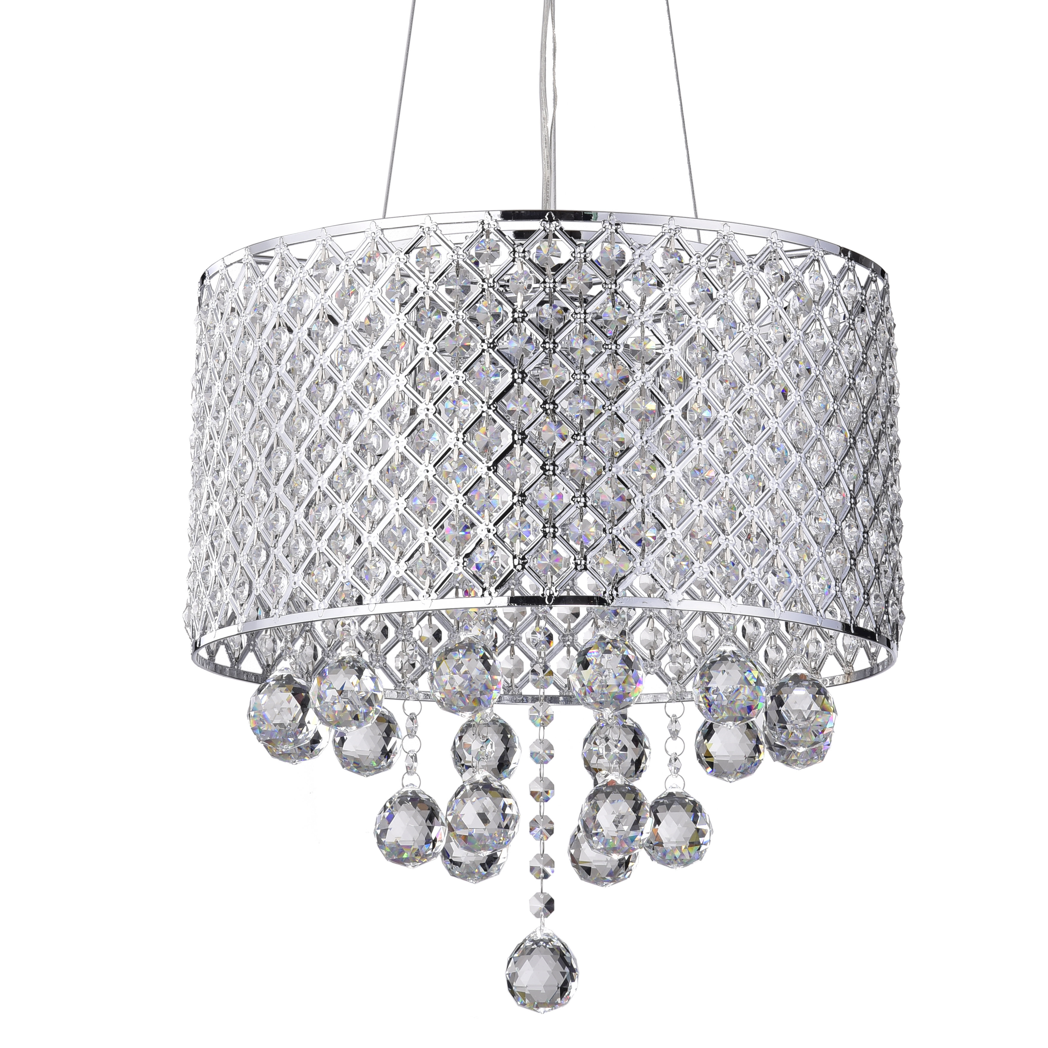 Ginnia 4 Light Crystal Chandelier In Aurore 4 Light Crystal Chandeliers (View 8 of 30)