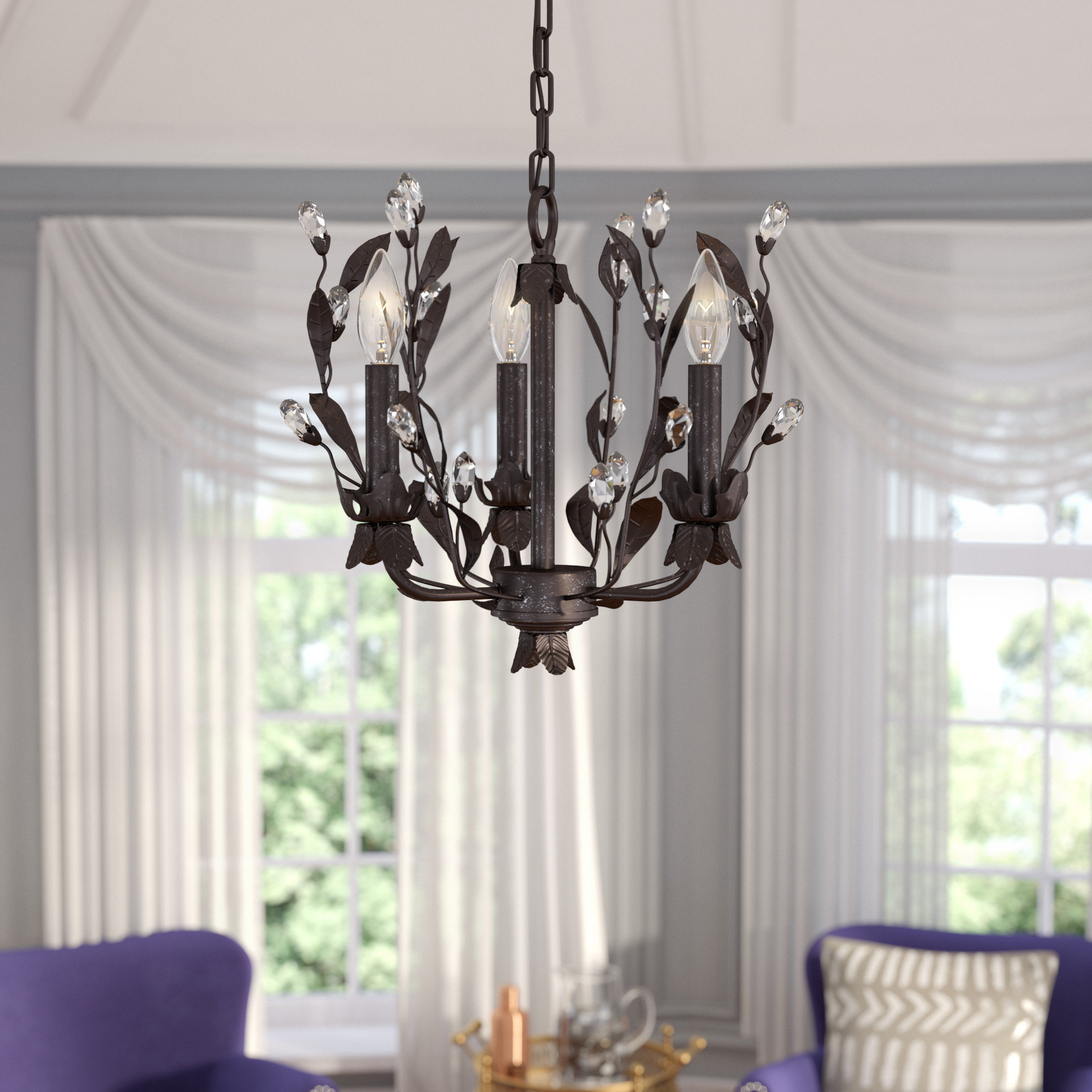 Giovanna 3 Light Candle Style Chandelier Regarding Hesse 5 Light Candle Style Chandeliers (View 10 of 30)