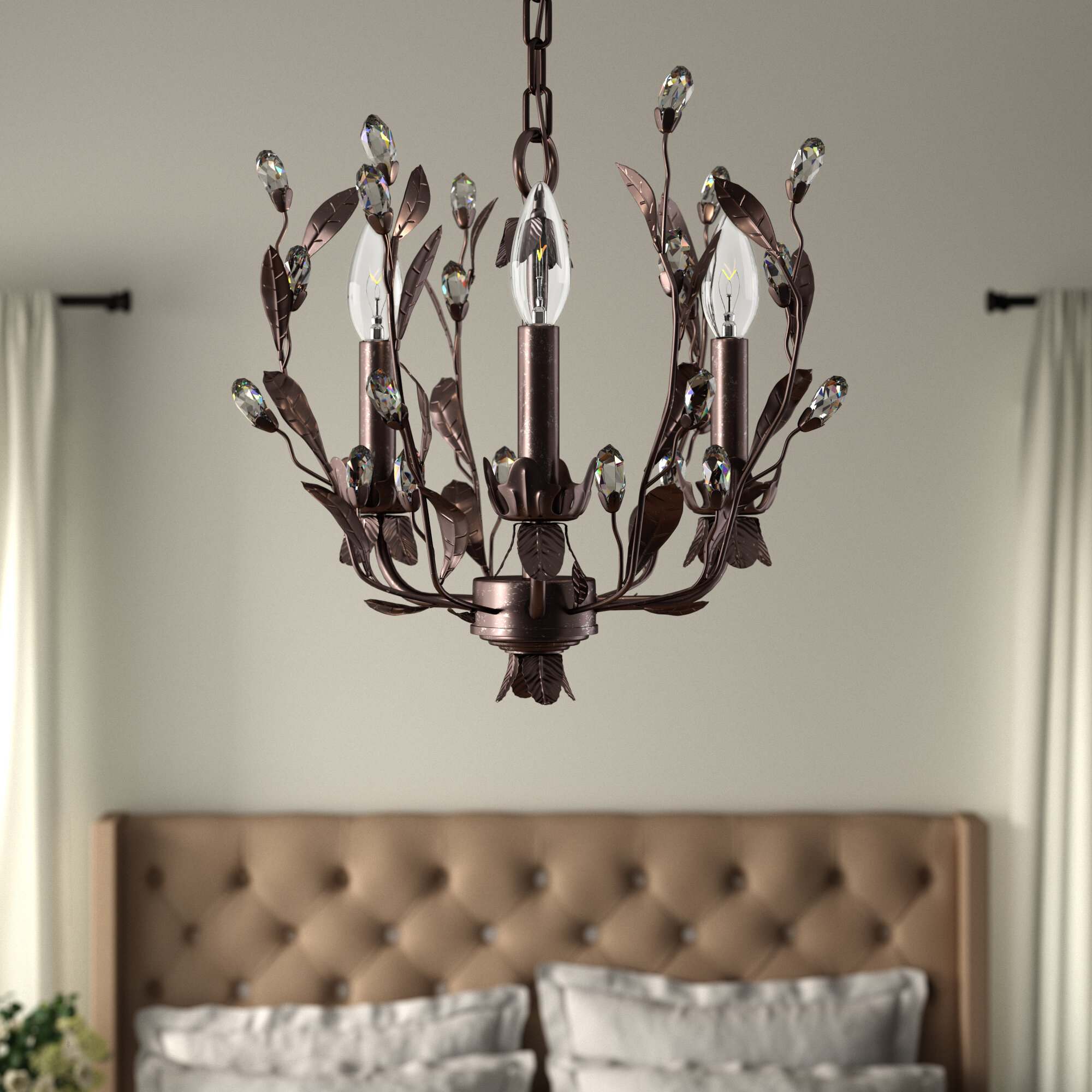 Giovanna 3 Light Candle Style Chandelier & Reviews   Joss & Main With Regard To Hesse 5 Light Candle Style Chandeliers (View 11 of 30)