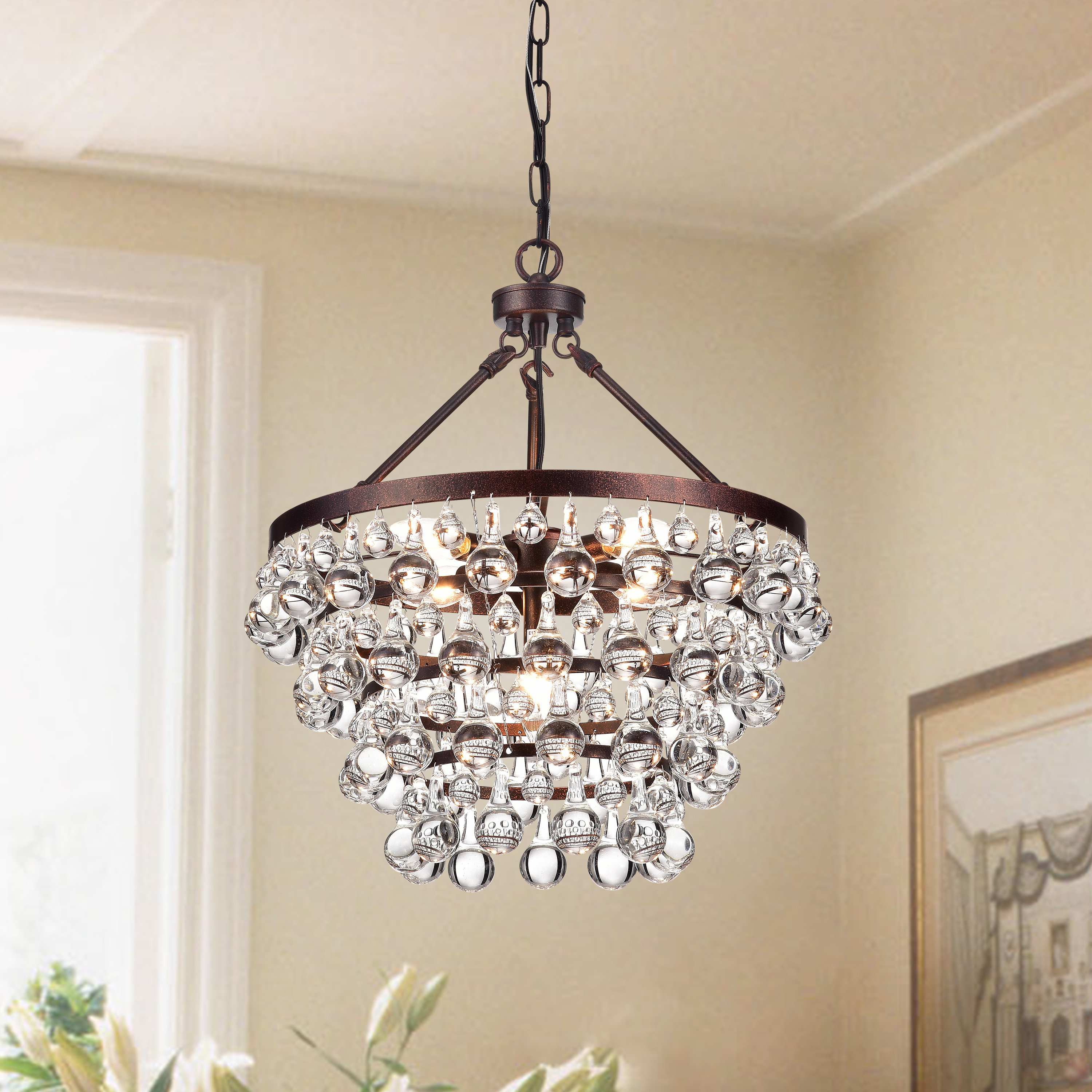 Giovanni 5 Light Crystal Chandelier With Regard To Bramers 6 Light Novelty Chandeliers (View 11 of 30)